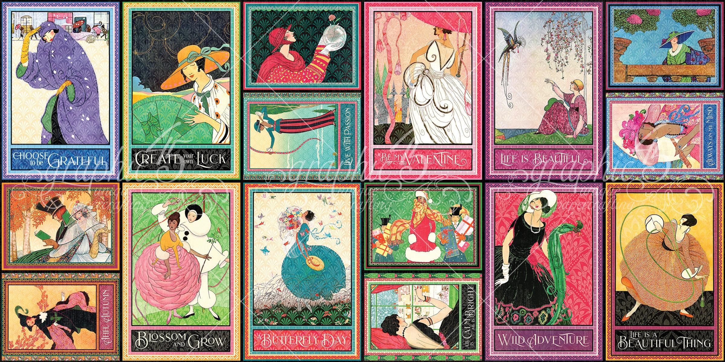 Fashion Forward Ephemera Cards-(16) 4X6 & (16) 3X4