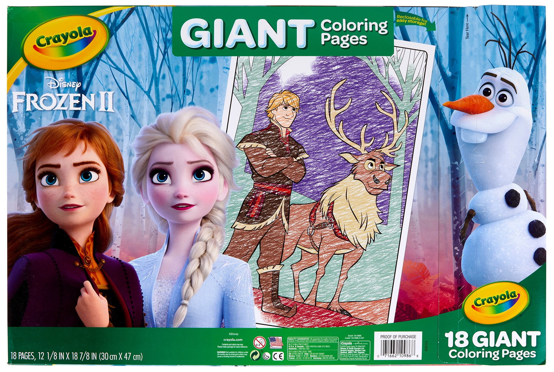 Crayola Giant Coloring Pages 12.75X19.5 -Frozen 2