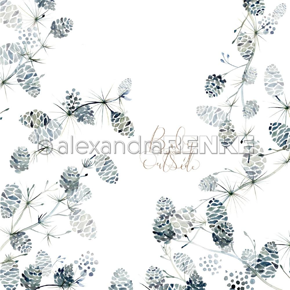 Alexandra Renke Christmas Floral Design Paper International Cones