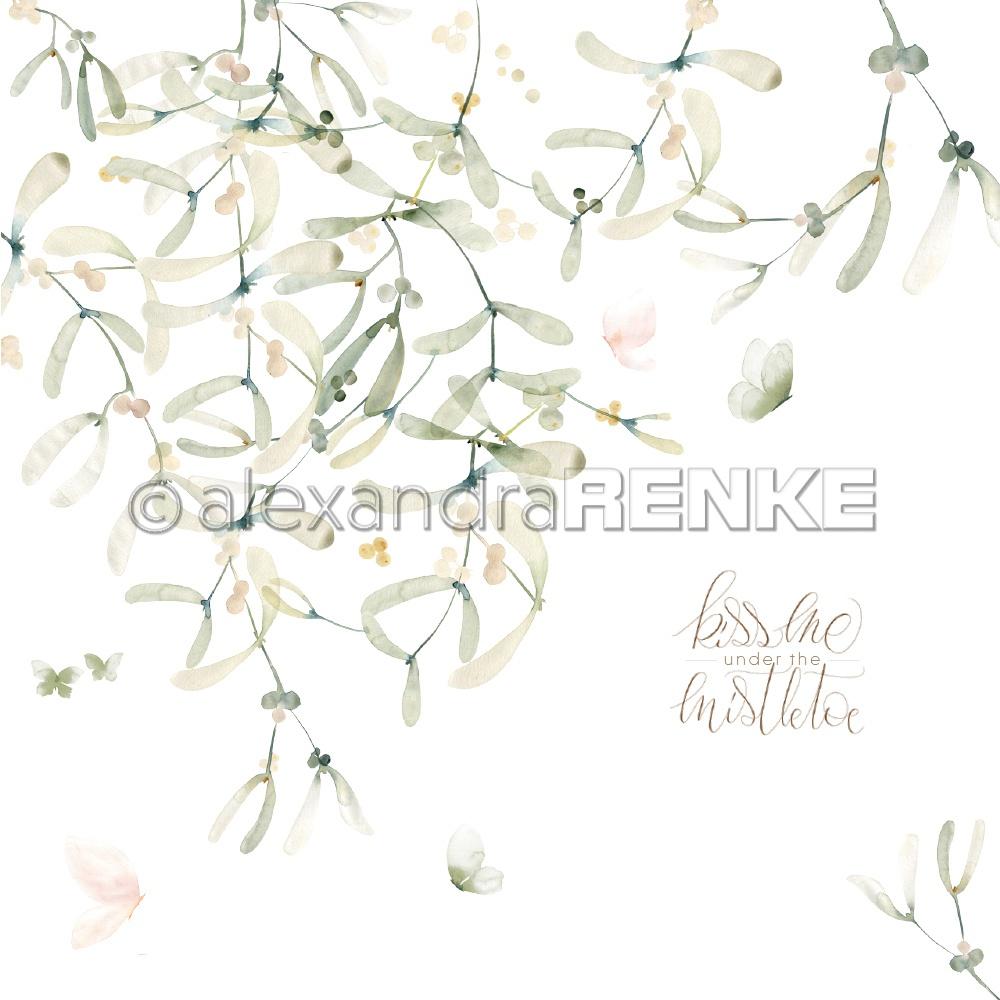 Alexandra Renke Christmas Floral Design Paper 12X12-International Mistletoe