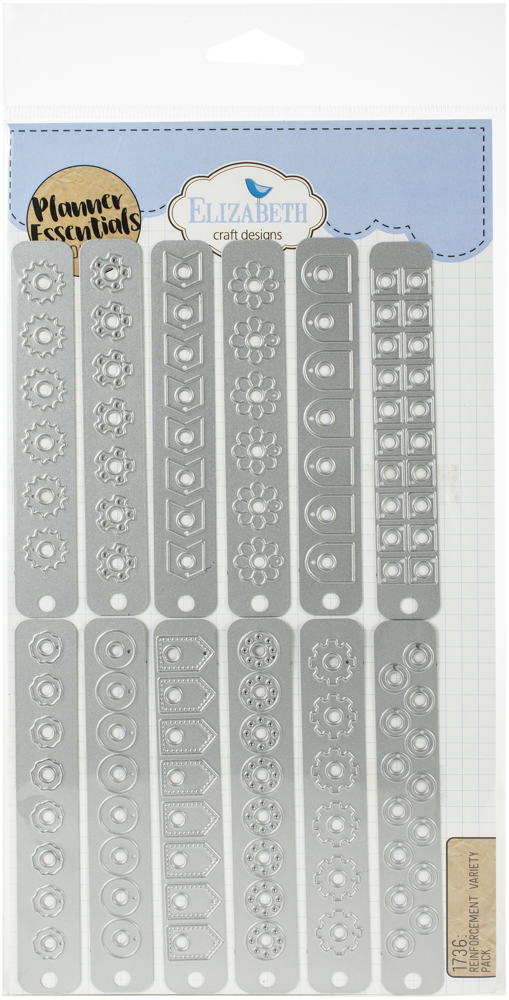 Elizabeth Craft Metal Die-Decorative Planner Page Reinforcements