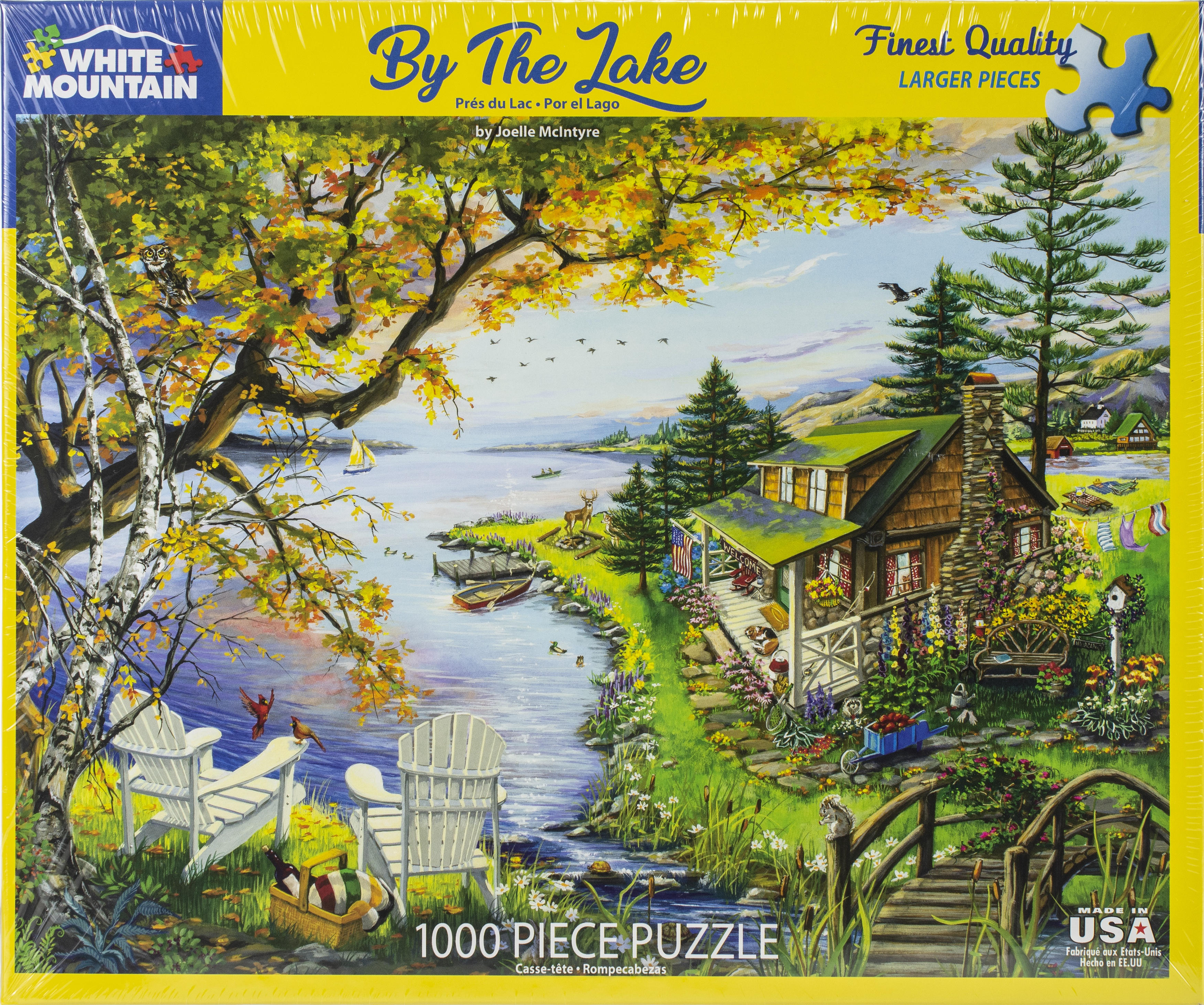 Jigsaw Puzzle 1000 Pieces 24x30-By The Lake
