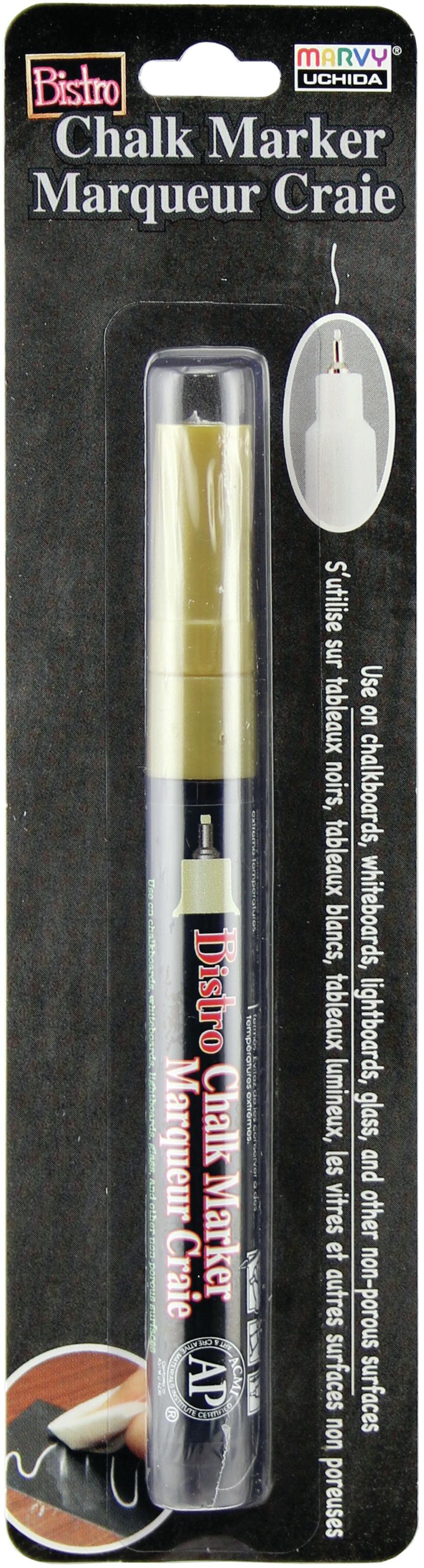 Bistro Chalk Marker Extra Fine Tip-Gold