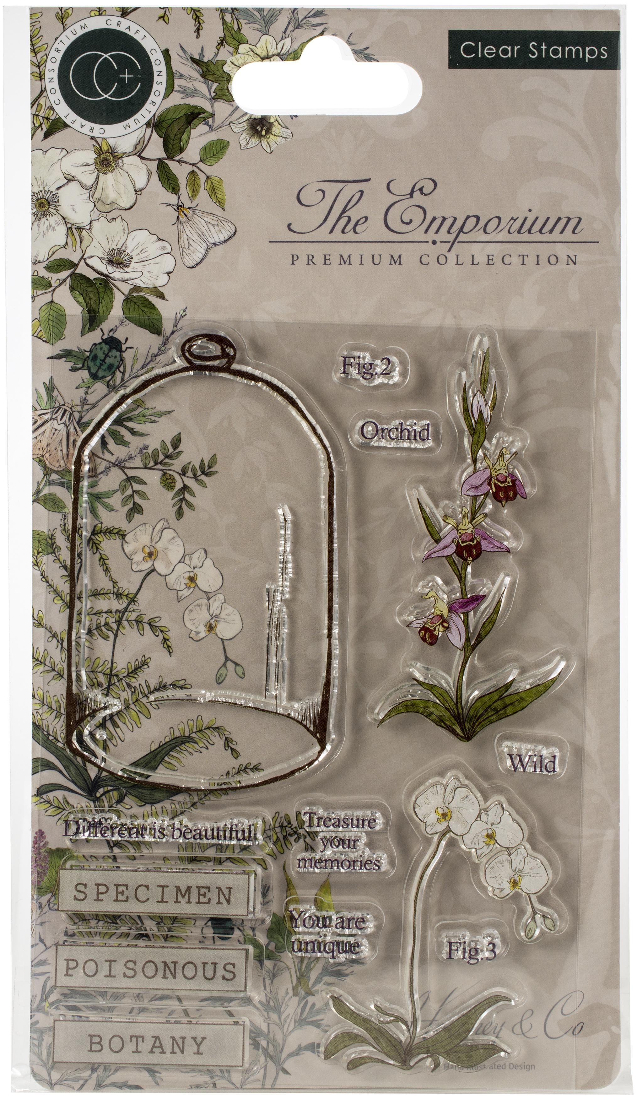 Craft Consortium A5 Clear Stamps-Botany, The Emporium