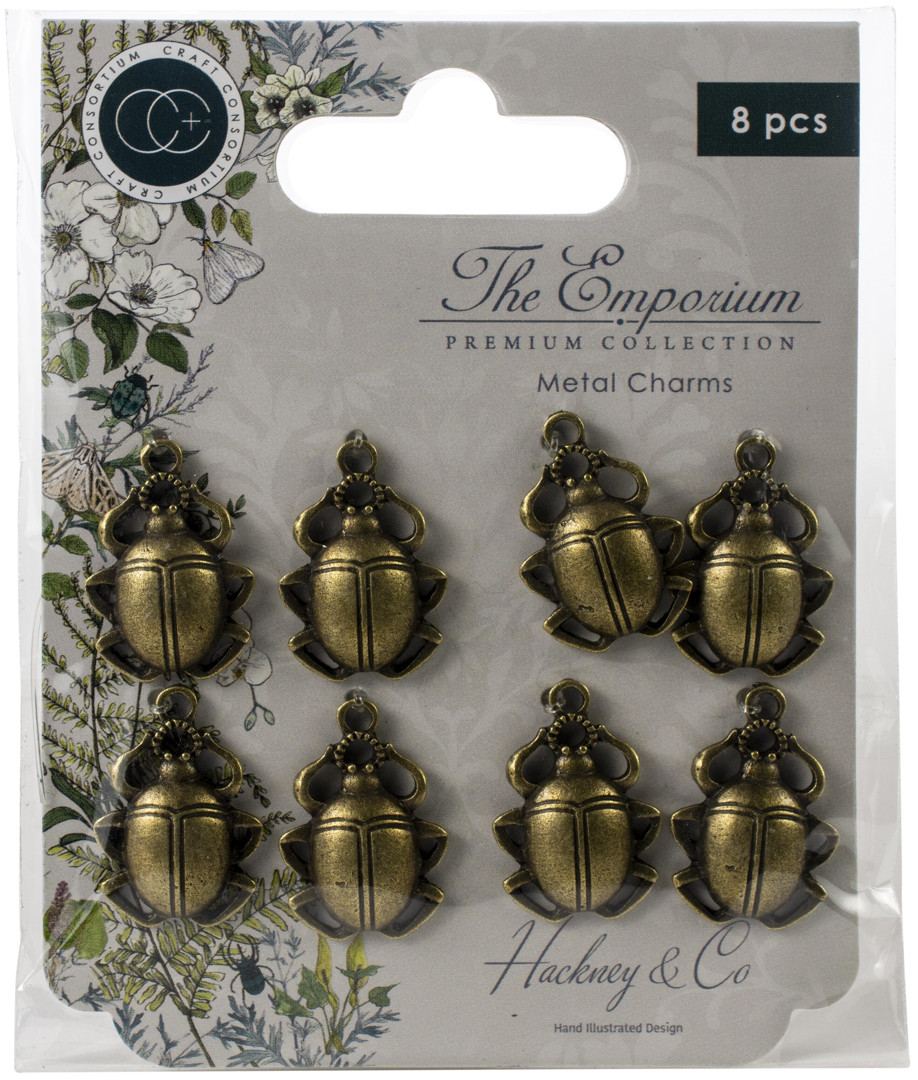 Craft Consortium The Emporium Metal Charms 8/Pkg-Beetles