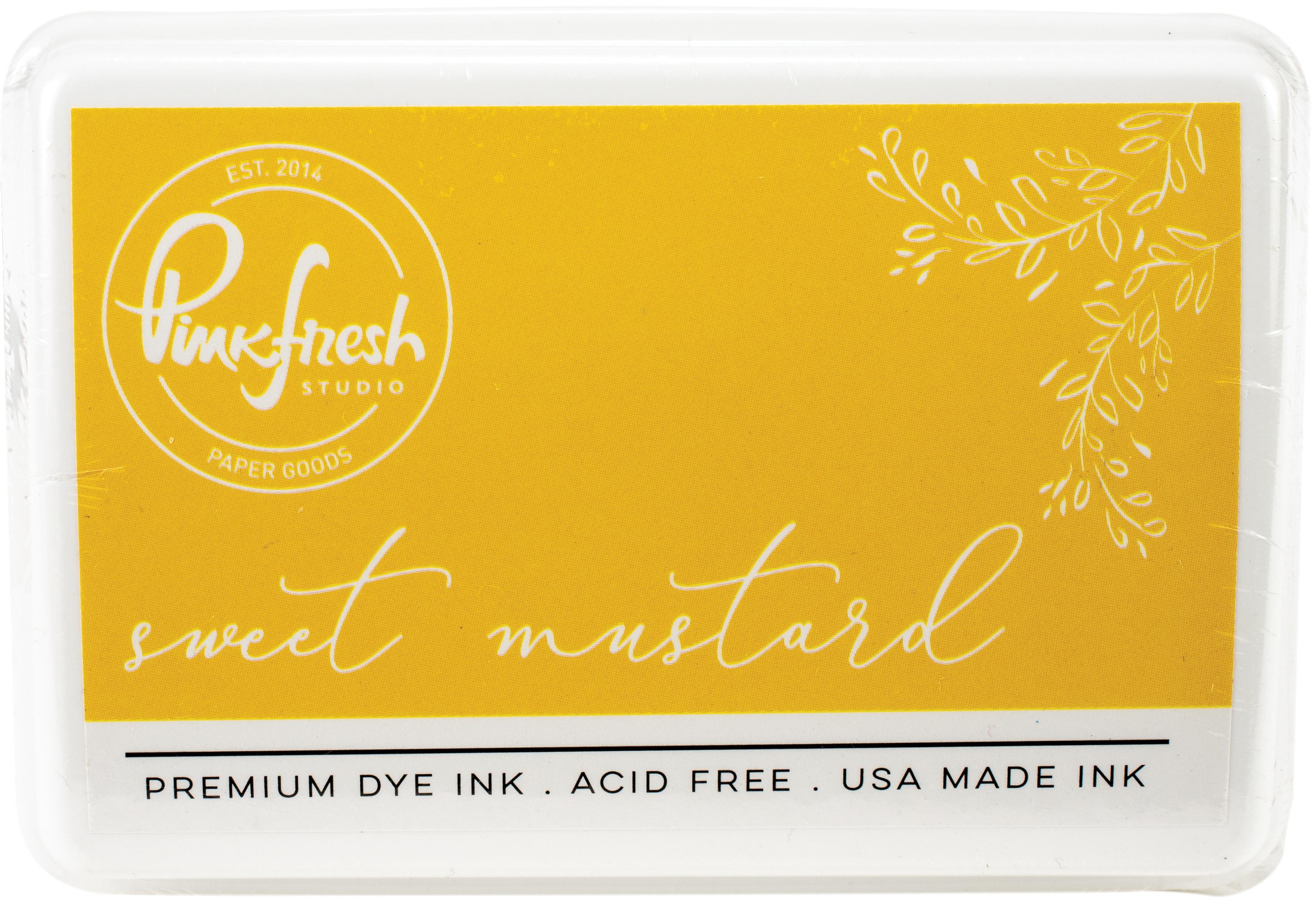 PinkFresh - Premium Dye Ink Pad - Sweet Mustard