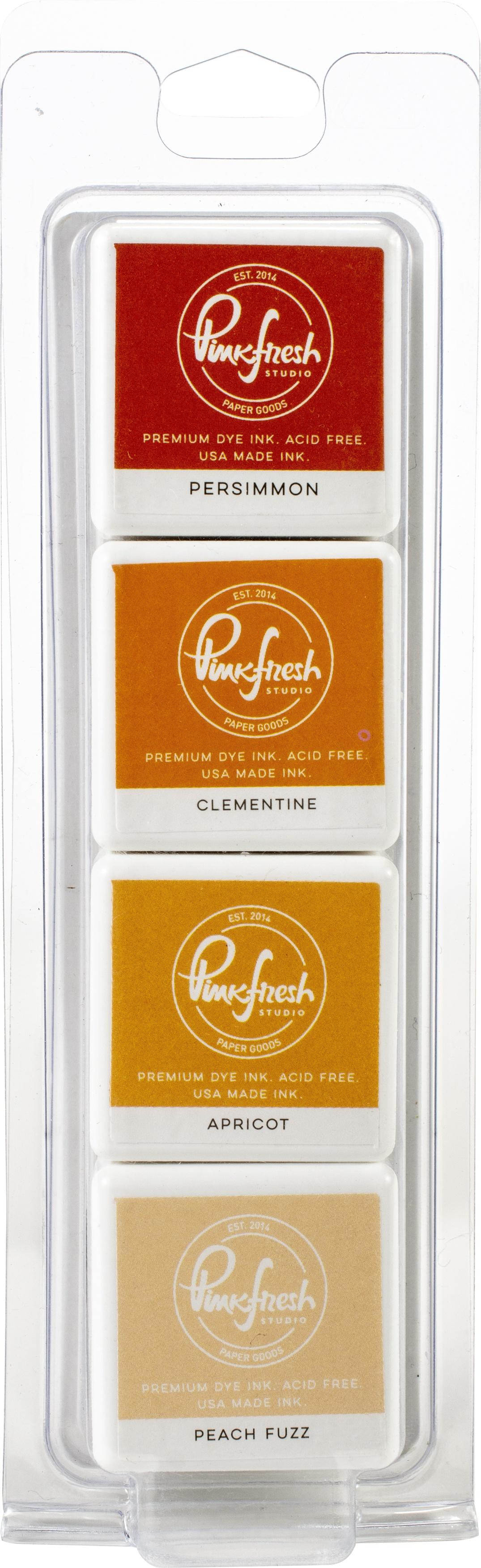 Pinkfresh Studio Premium Dye Cube Ink Pads 4 Colors-Indian Summer