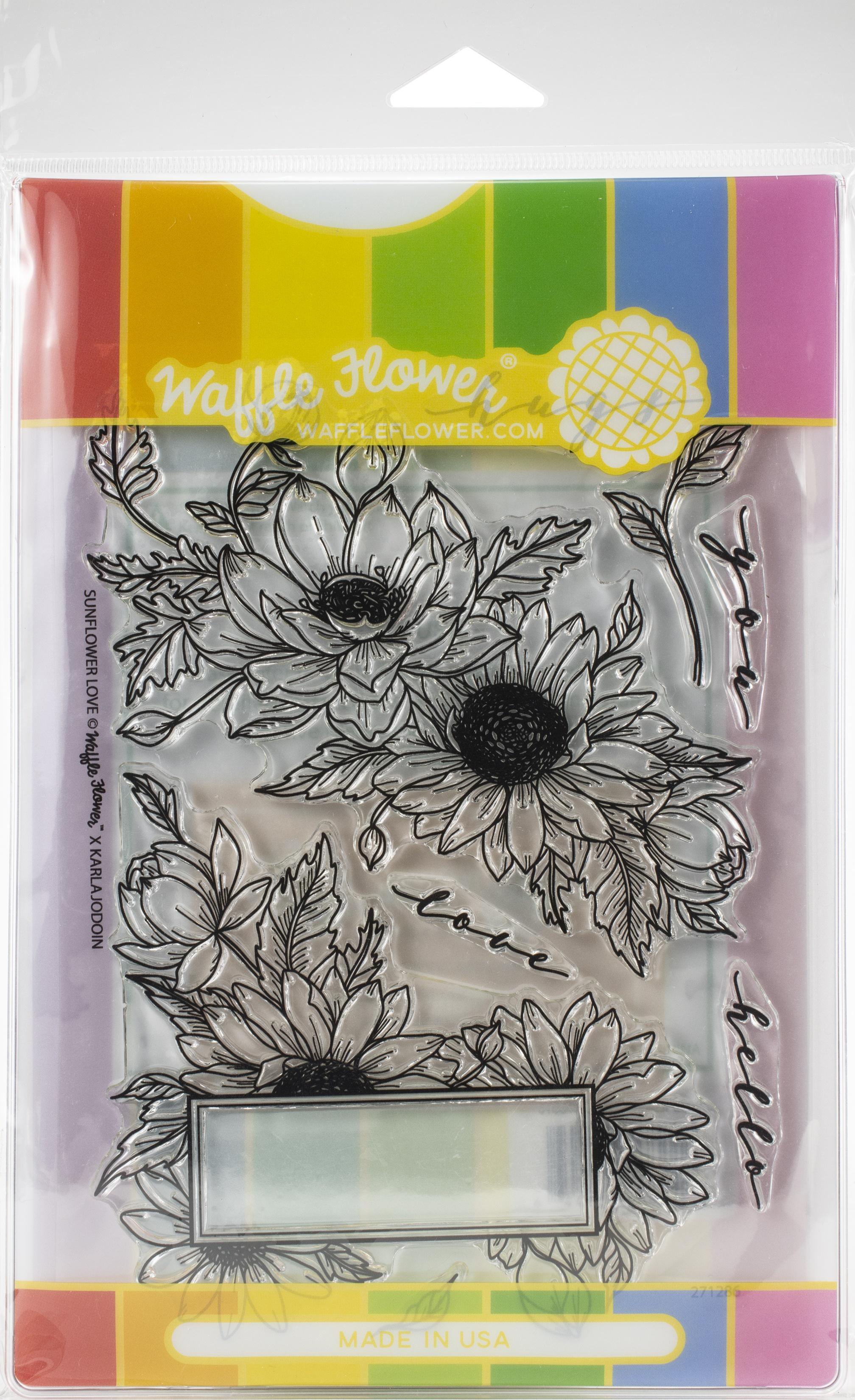 Waffle Flower Stamp & Die Set-Sunflower Love