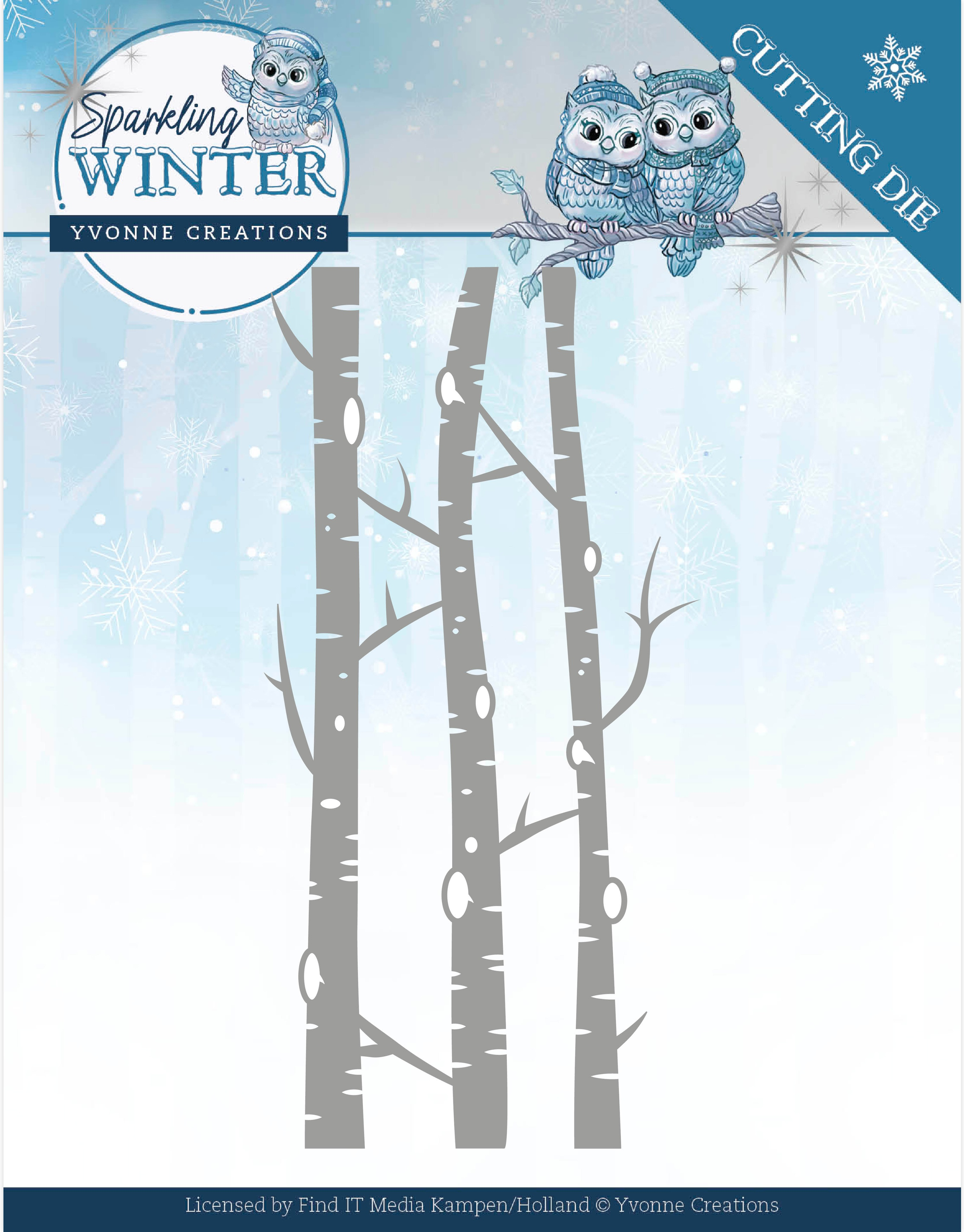 Find It Trading Yvonne Creations Die-Birch Trees, Sparkling Winter