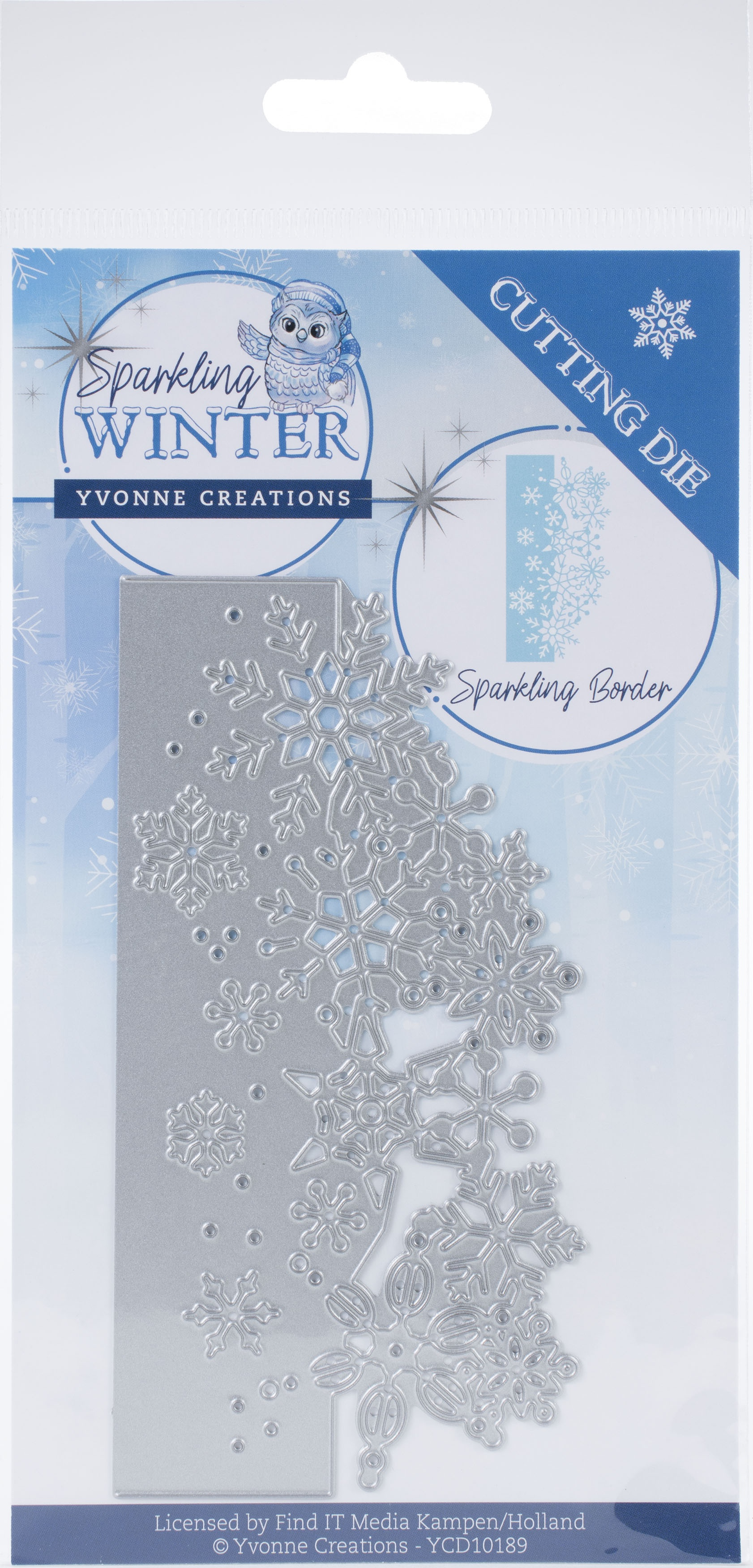 Find It Trading Yvonne Creations Die-Sparkling Border, Sparkling Winter