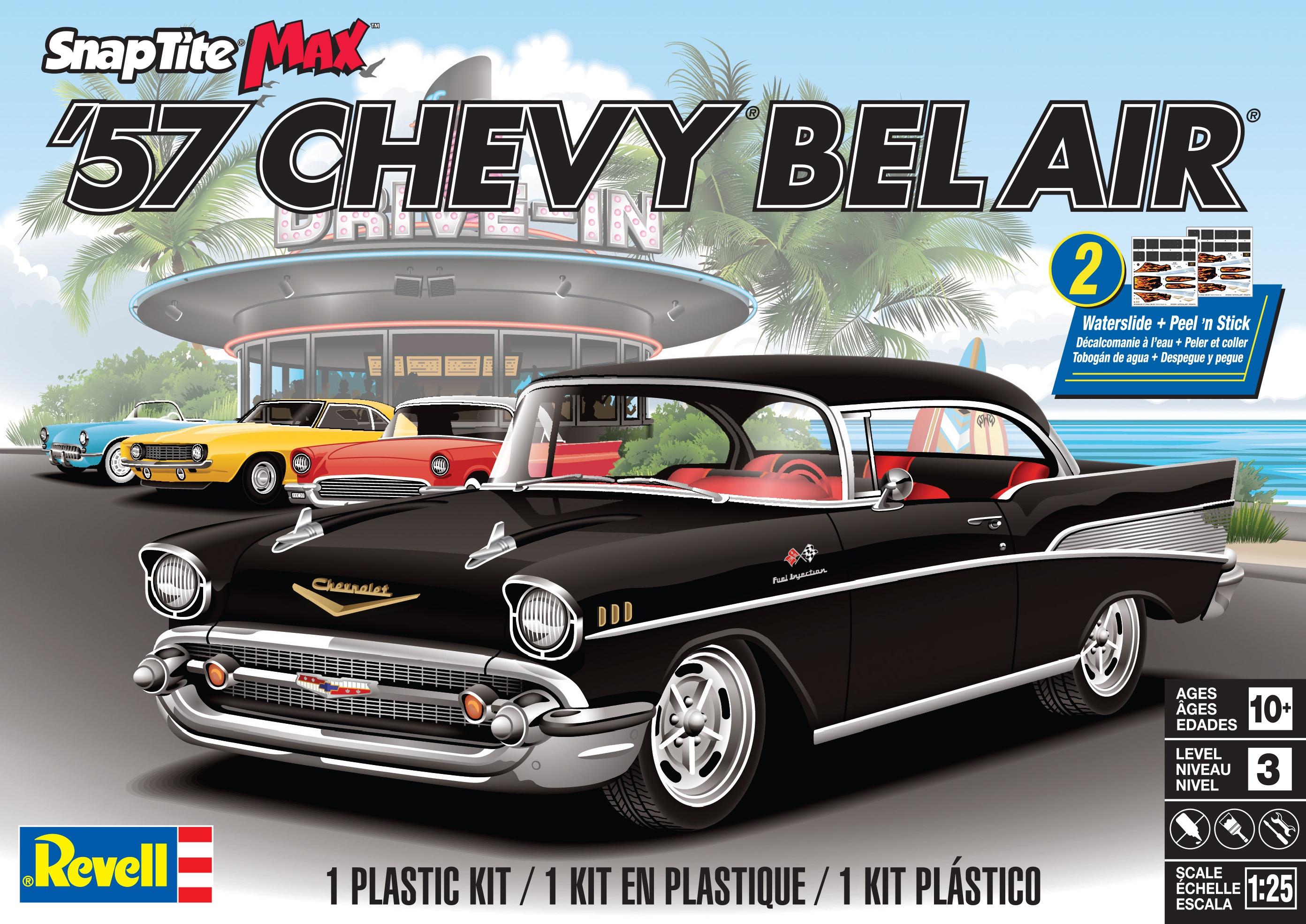 Plastic Model Kit-57 Chevy Bel Air 1:25