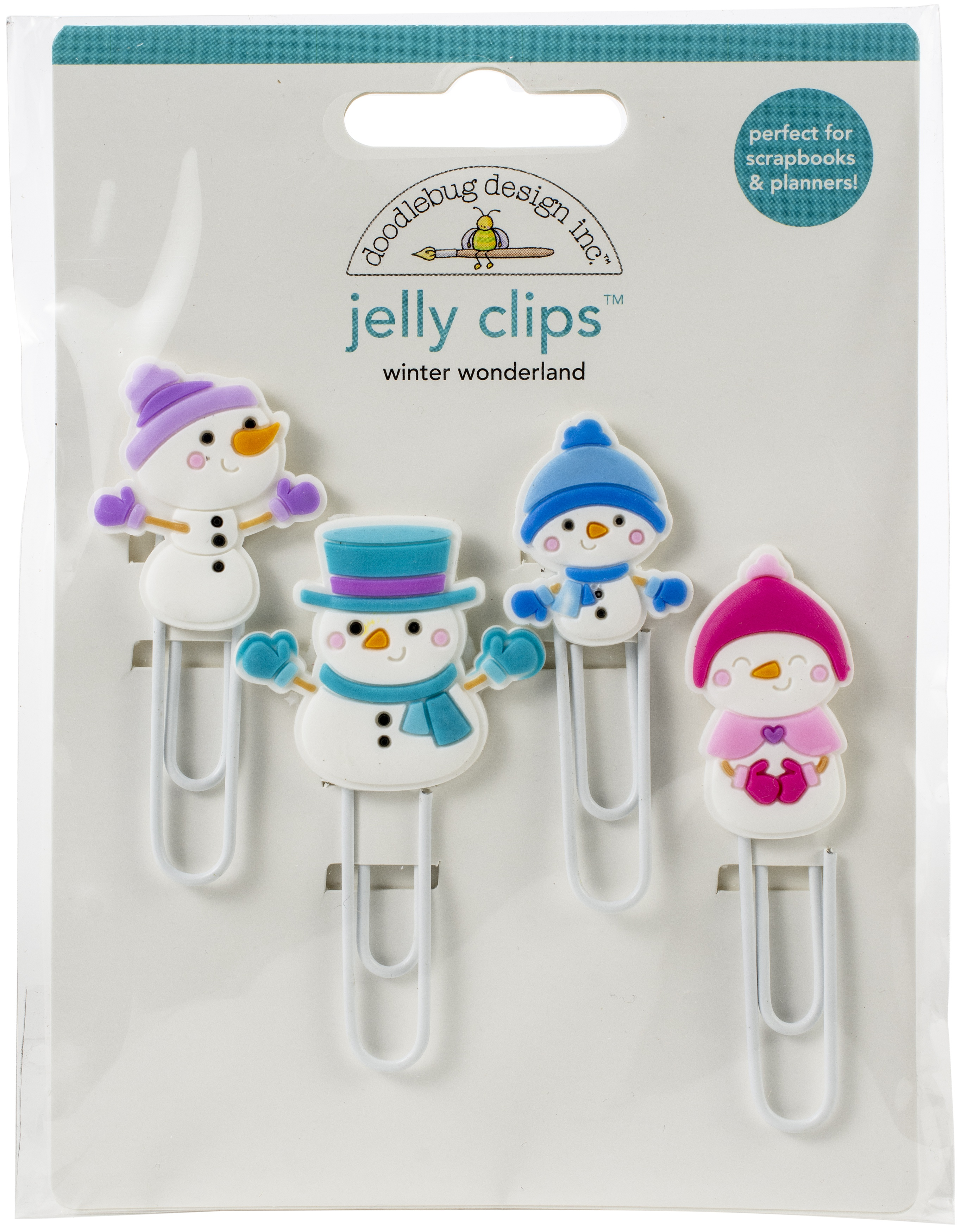 Doodlebug Jelly Clips 4/Pkg-Winter Wonderland