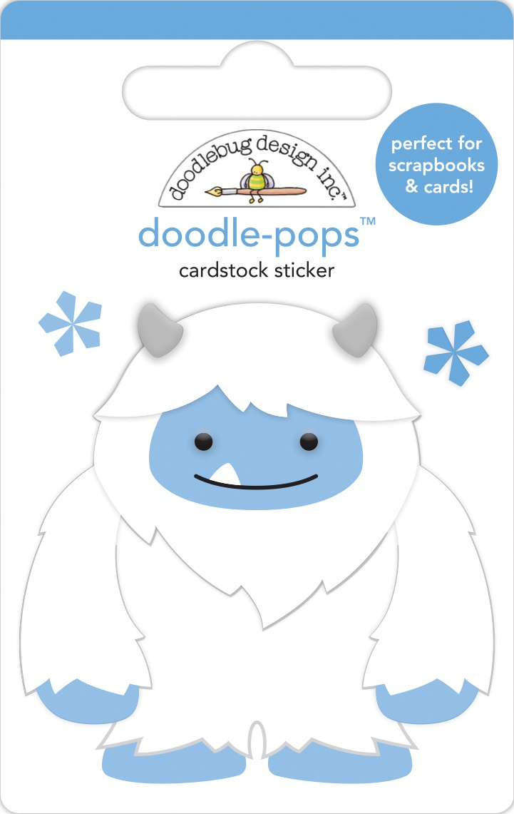 Doodlebug Doodle-Pops 3D Stickers-Harry Winter Wonderland