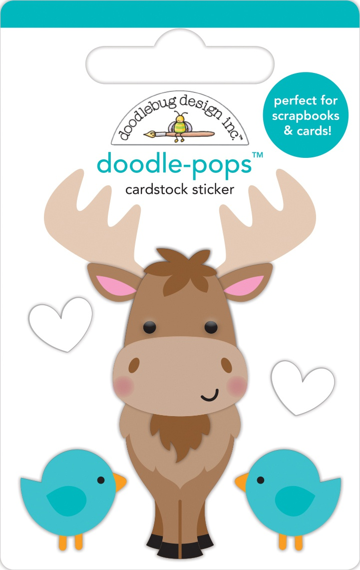 Doodlebug Doodle-Pops 3D Stickers-Bruce, Winter Wonderland