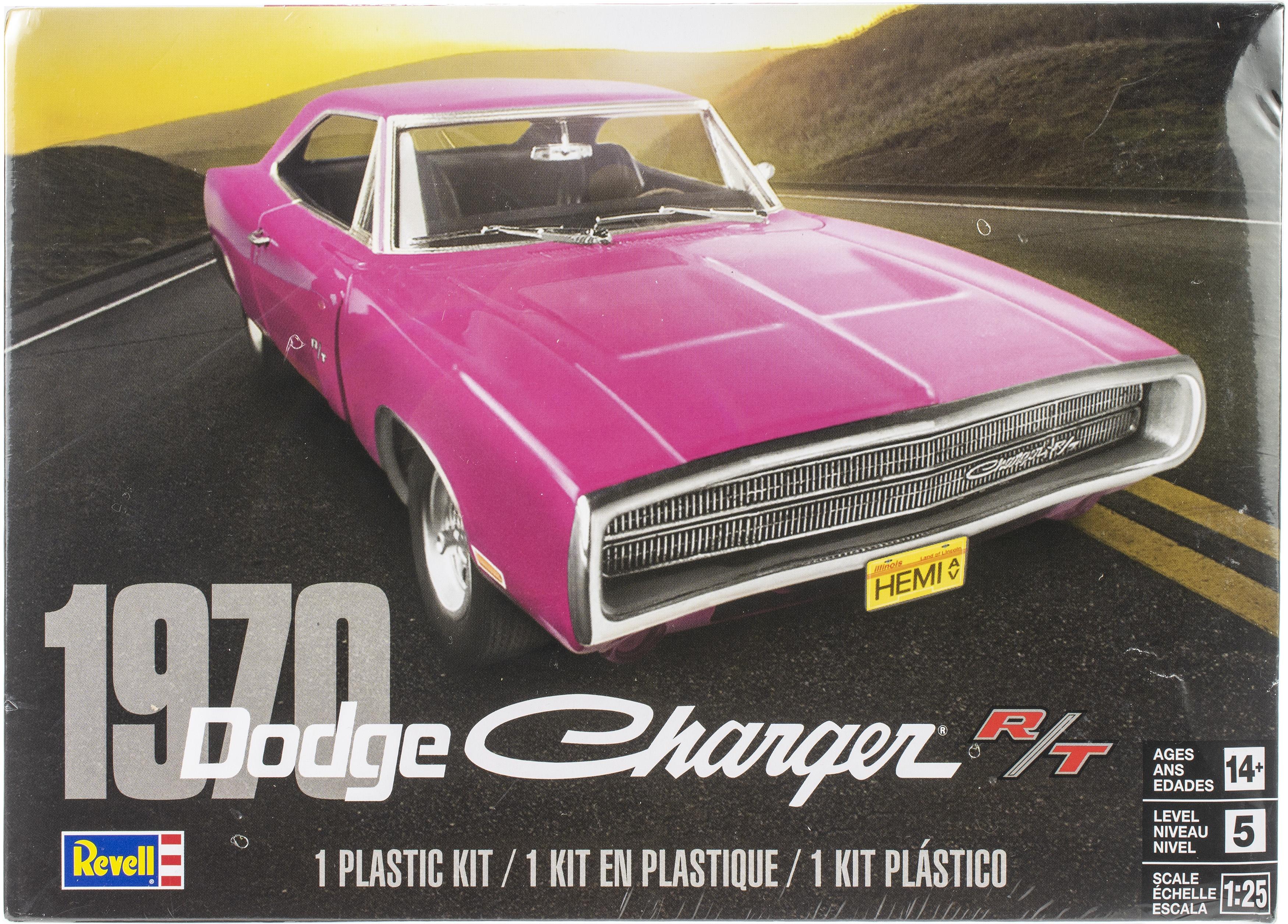 Plastic Model Kit-'70 Dodge Charger R/T 1:25
