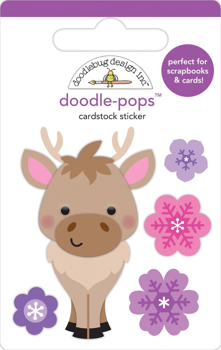 Doodlebug Doodle-Pops 3D Stickers-Hans, Winter Wonderland