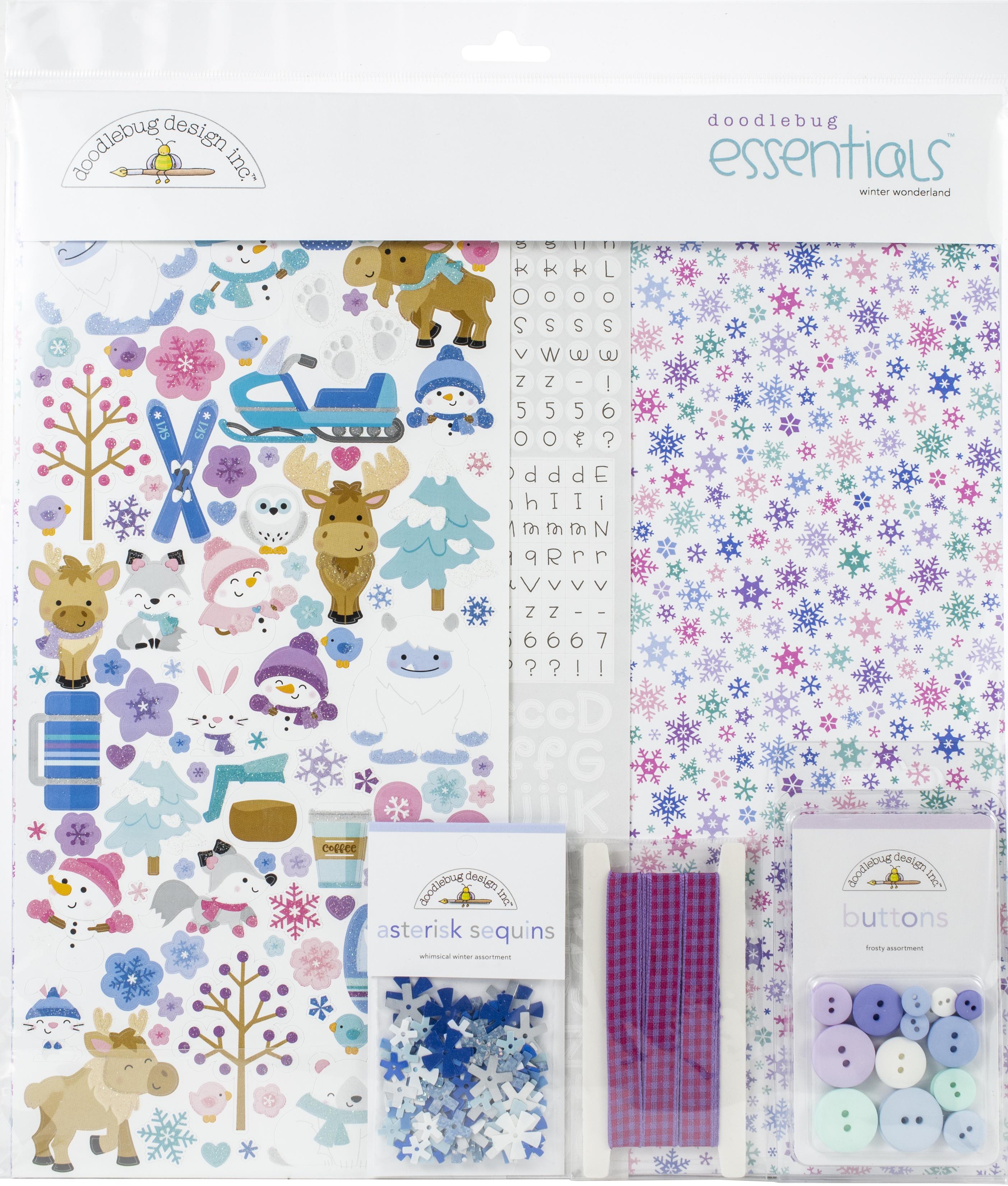 Doodlebug Essentials Page Kit 12X12-Winter Wonderland