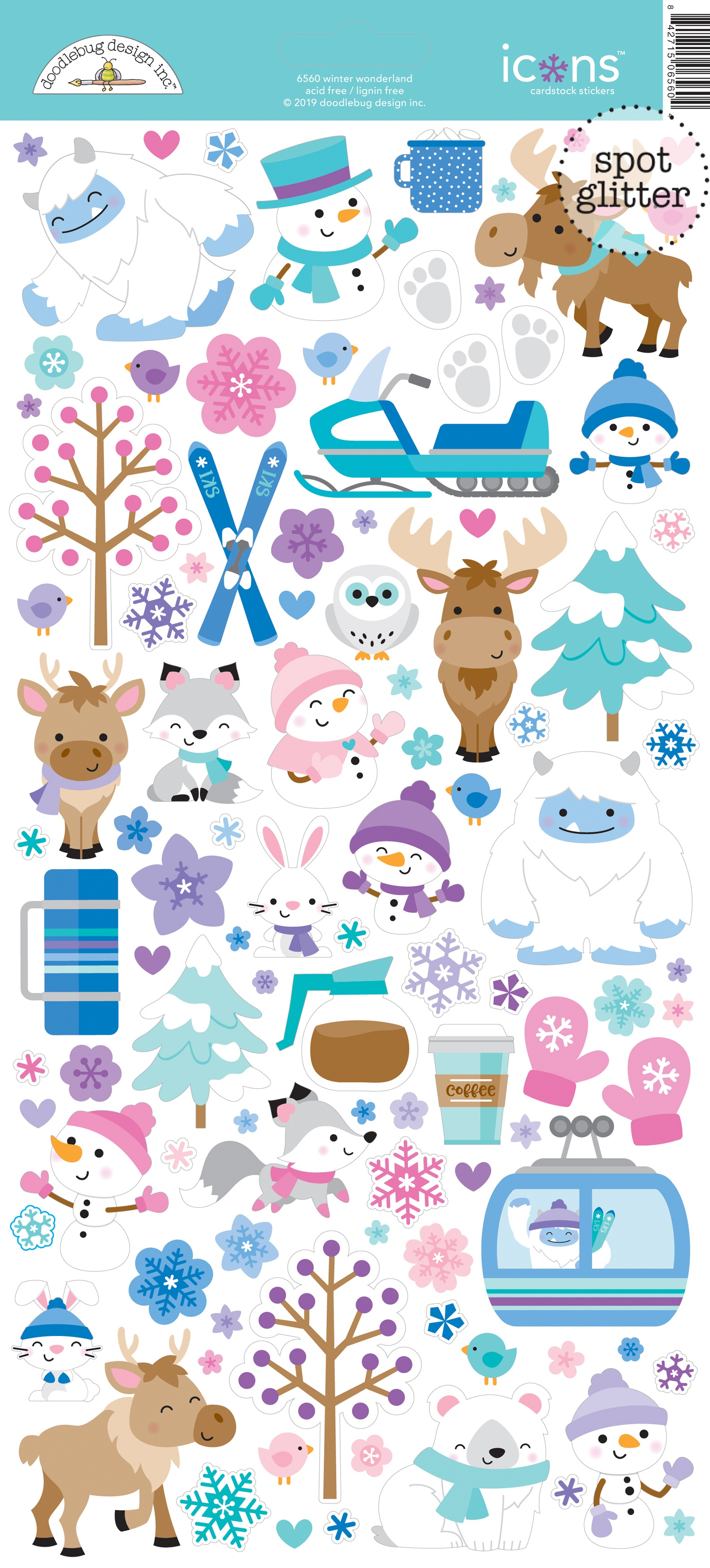 Doodlebug Winter Wonderland - Icons Cardstock Stickers