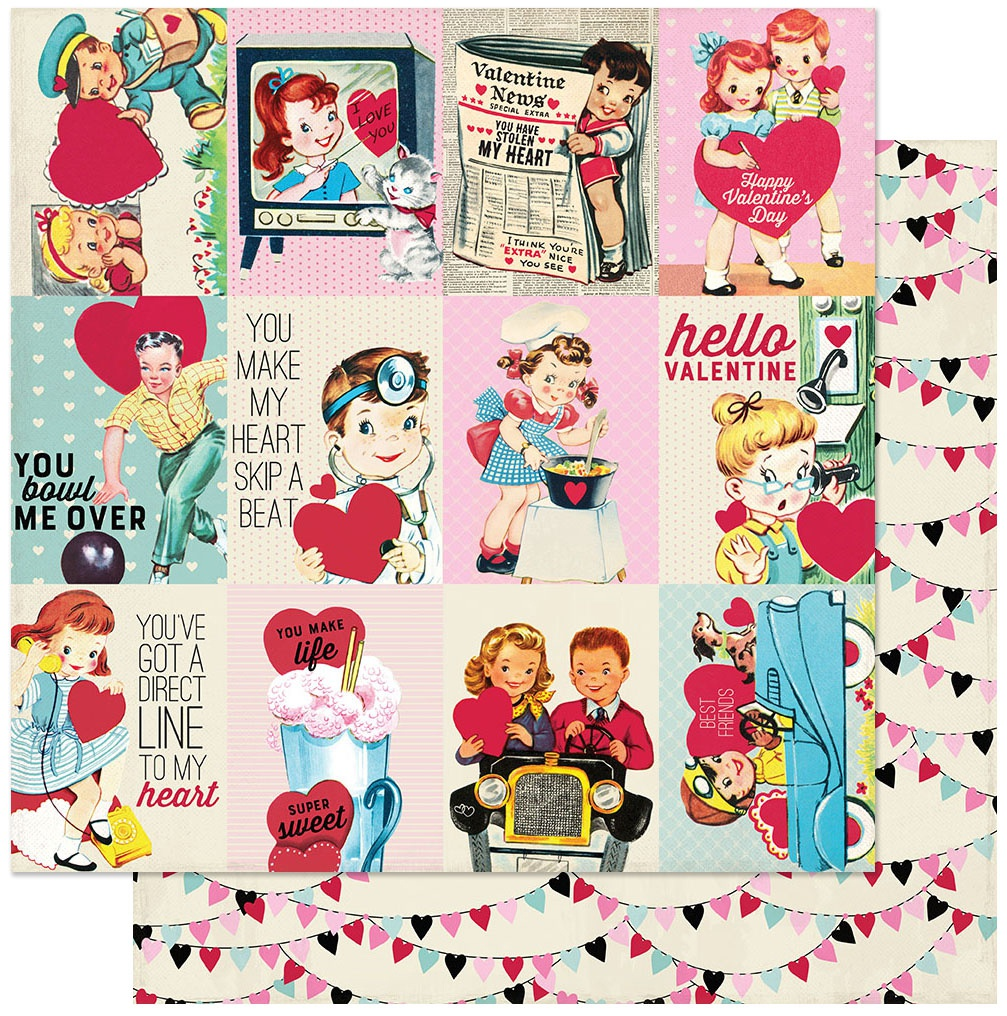 Love Notes Double-Sided Cardstock 12X12-#7 3X4 Cut-Aparts