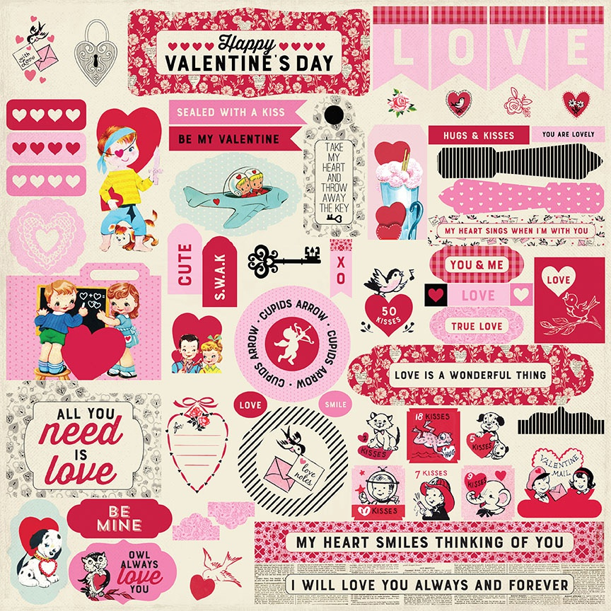 Love Notes Cardstock Stickers 12X12-Details