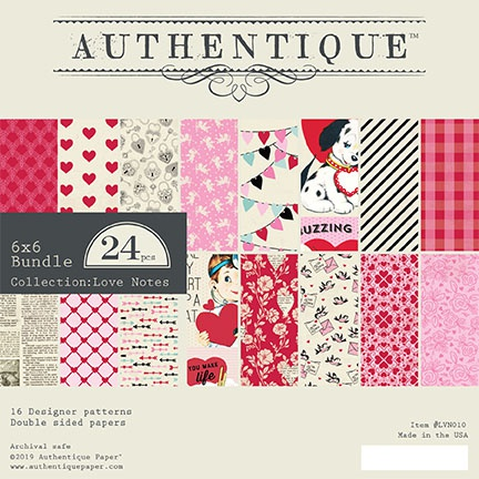 Authentique Double-Sided Cardstock Pad 6X6 24/Pkg-Love Notes