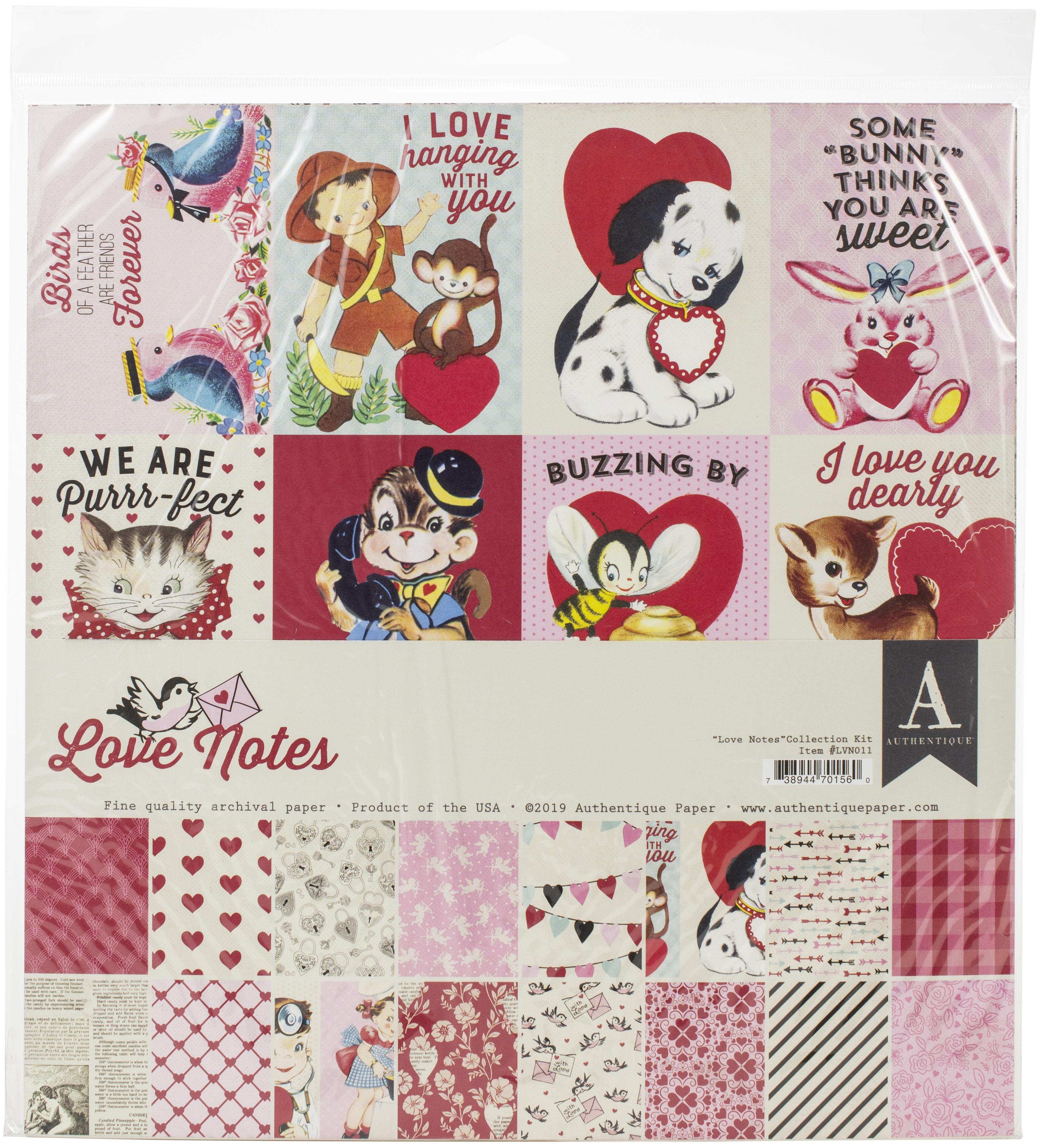Authentique Collection Kit 12X12-Love Notes