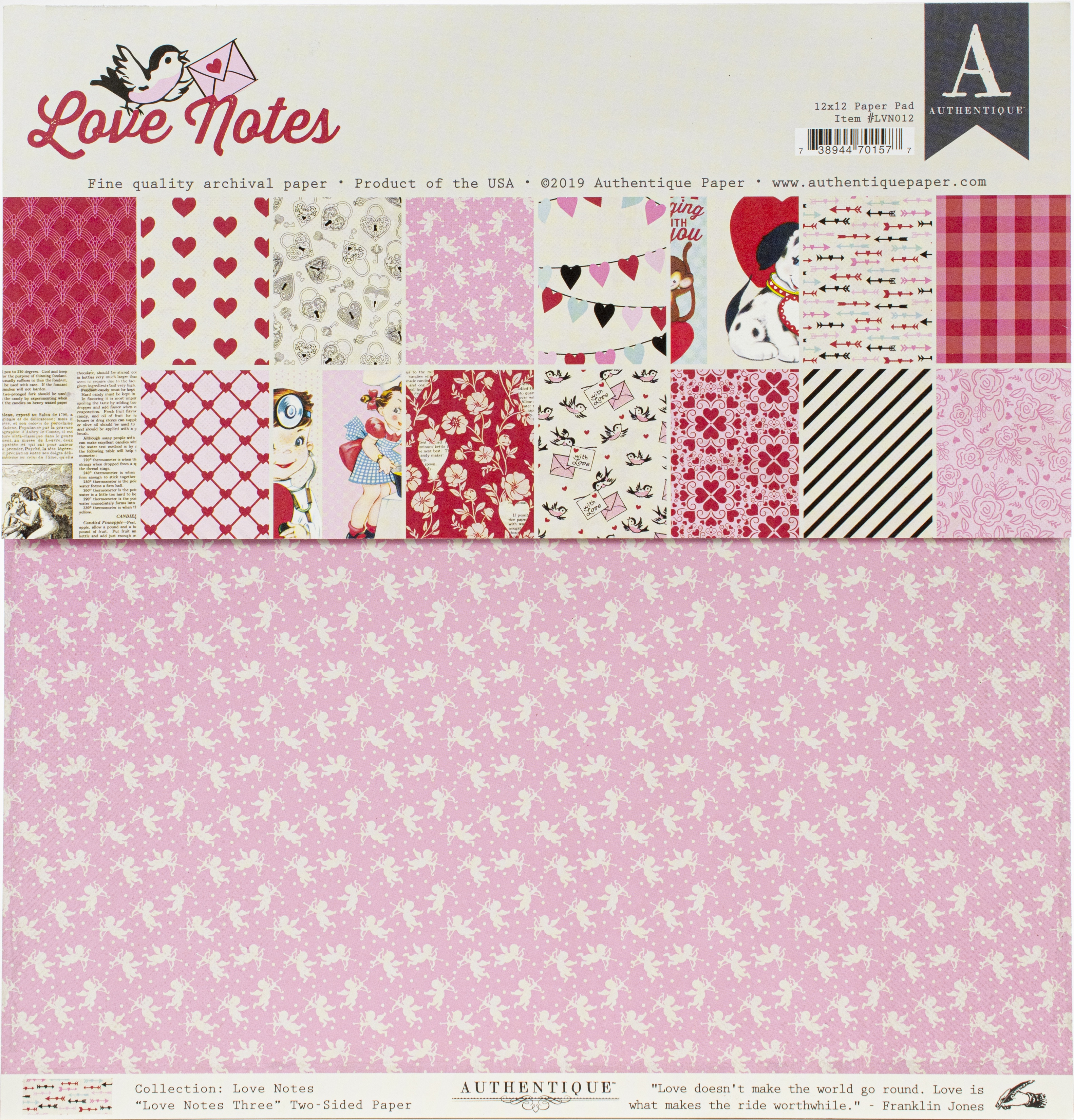 Authentique Love Notes Collection