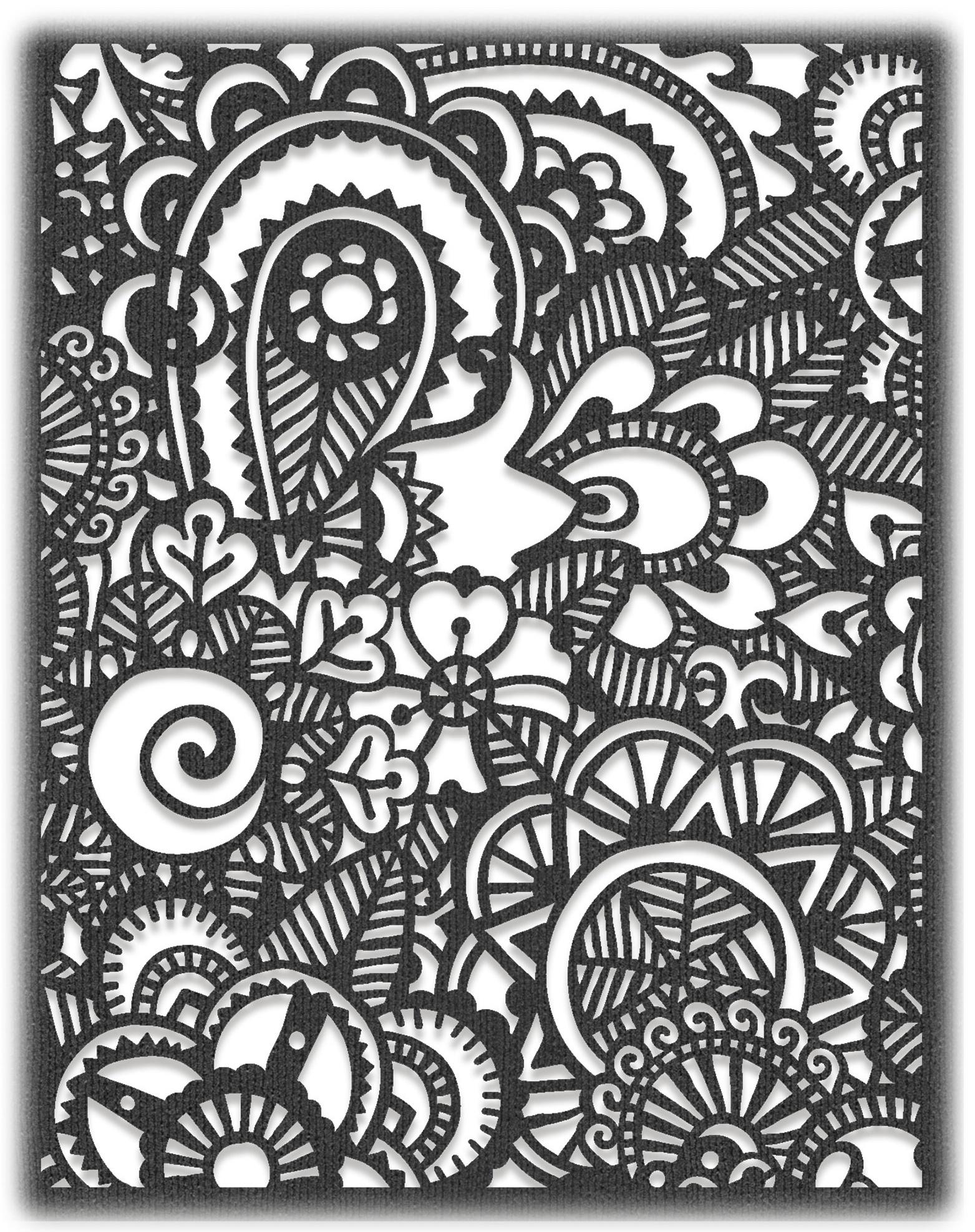 Sizzix Thinlits Die By Tim Holtz-Doodle Art #2
