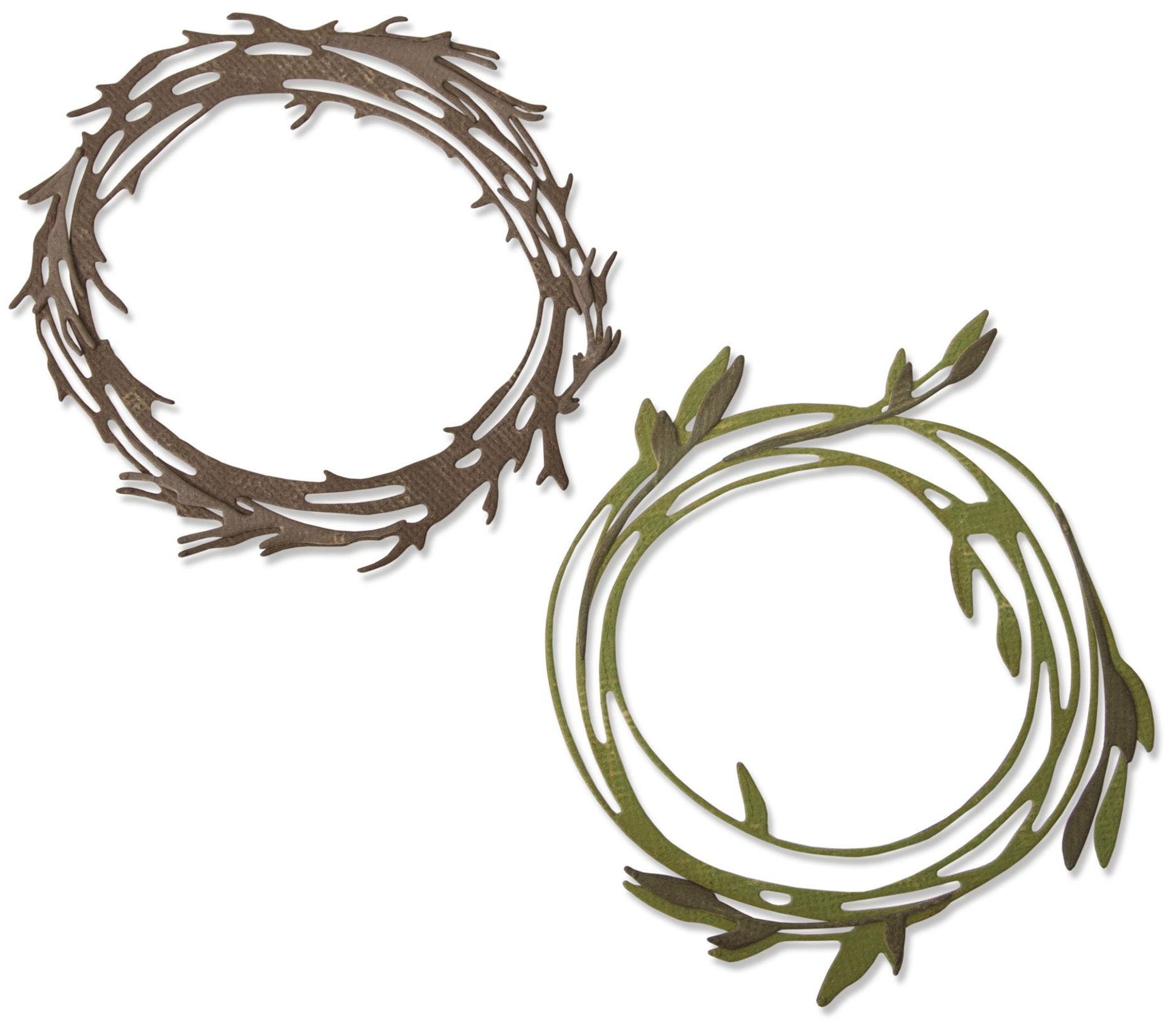 Sizzix Thinlits Dies By Tim Holtz-Funky Wreath
