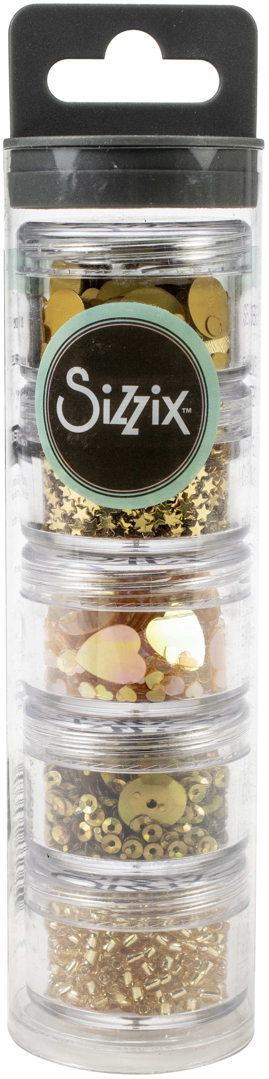 Sizzix Making Essential Sequins & Beads 5/Pkg-Agave, 5g Per Pot-Click to see all!