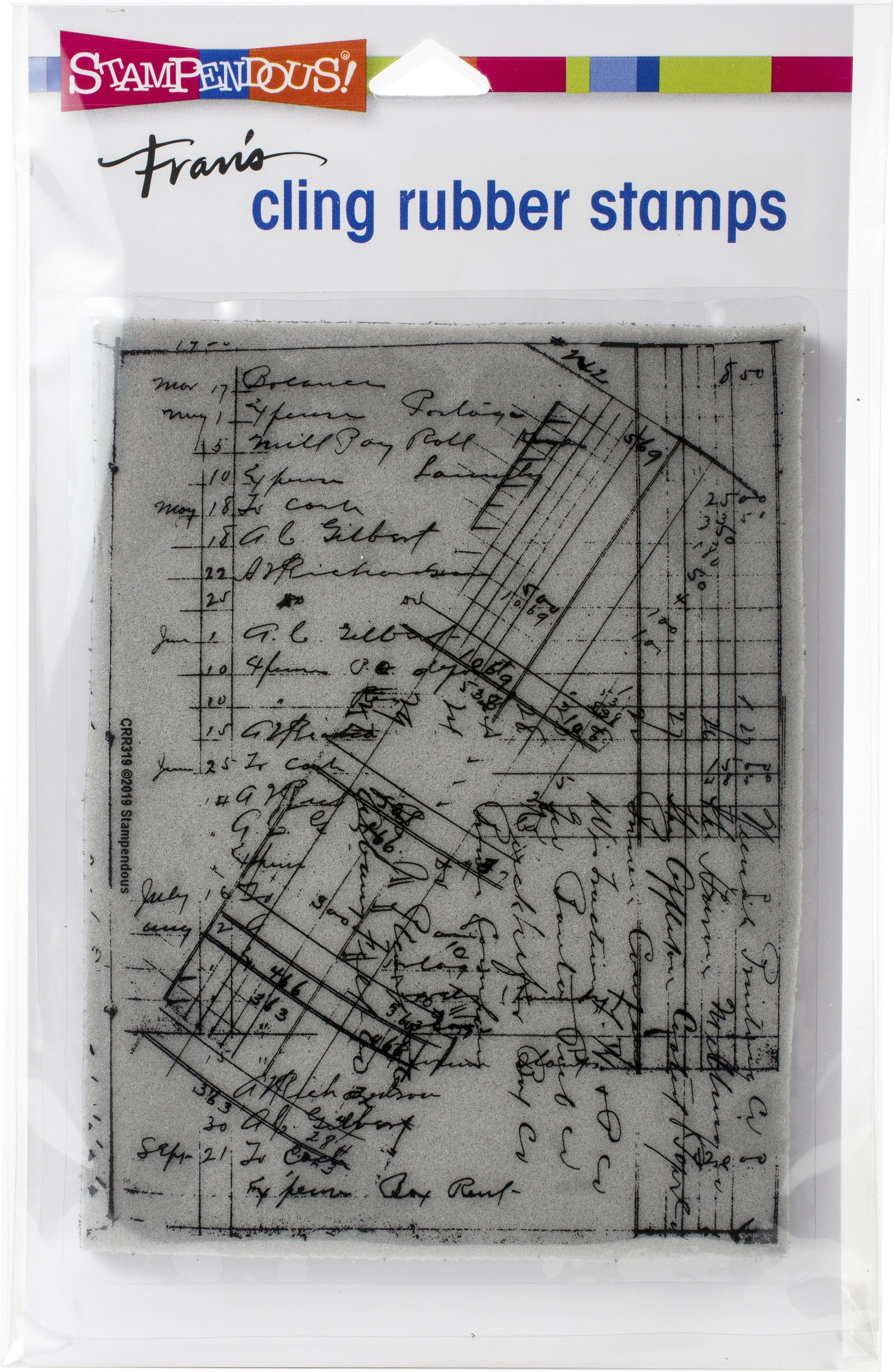 Stampendous - Ledger Script Cling Stamp