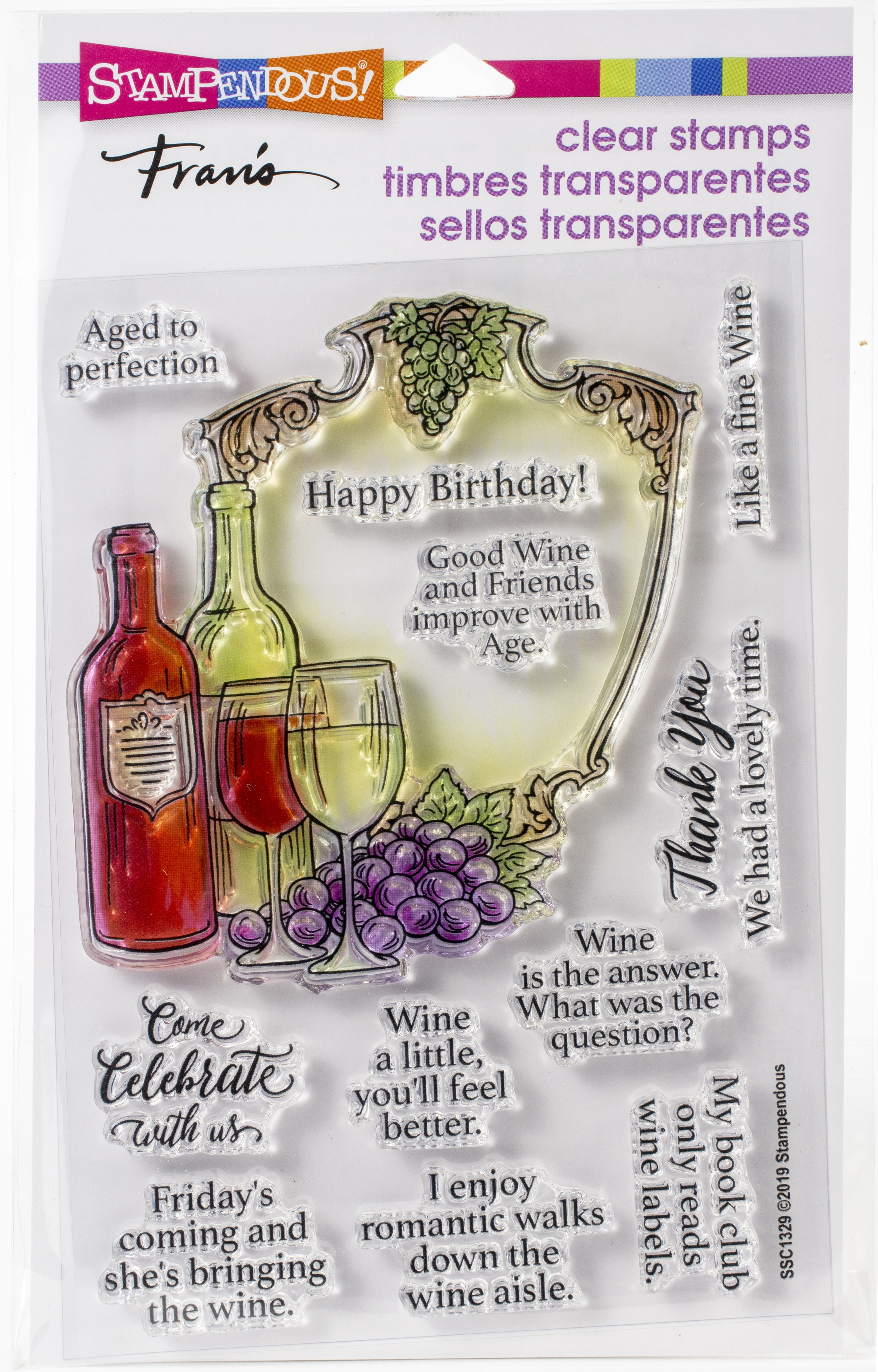 Stampendous - Wine Frame Clear Stamp