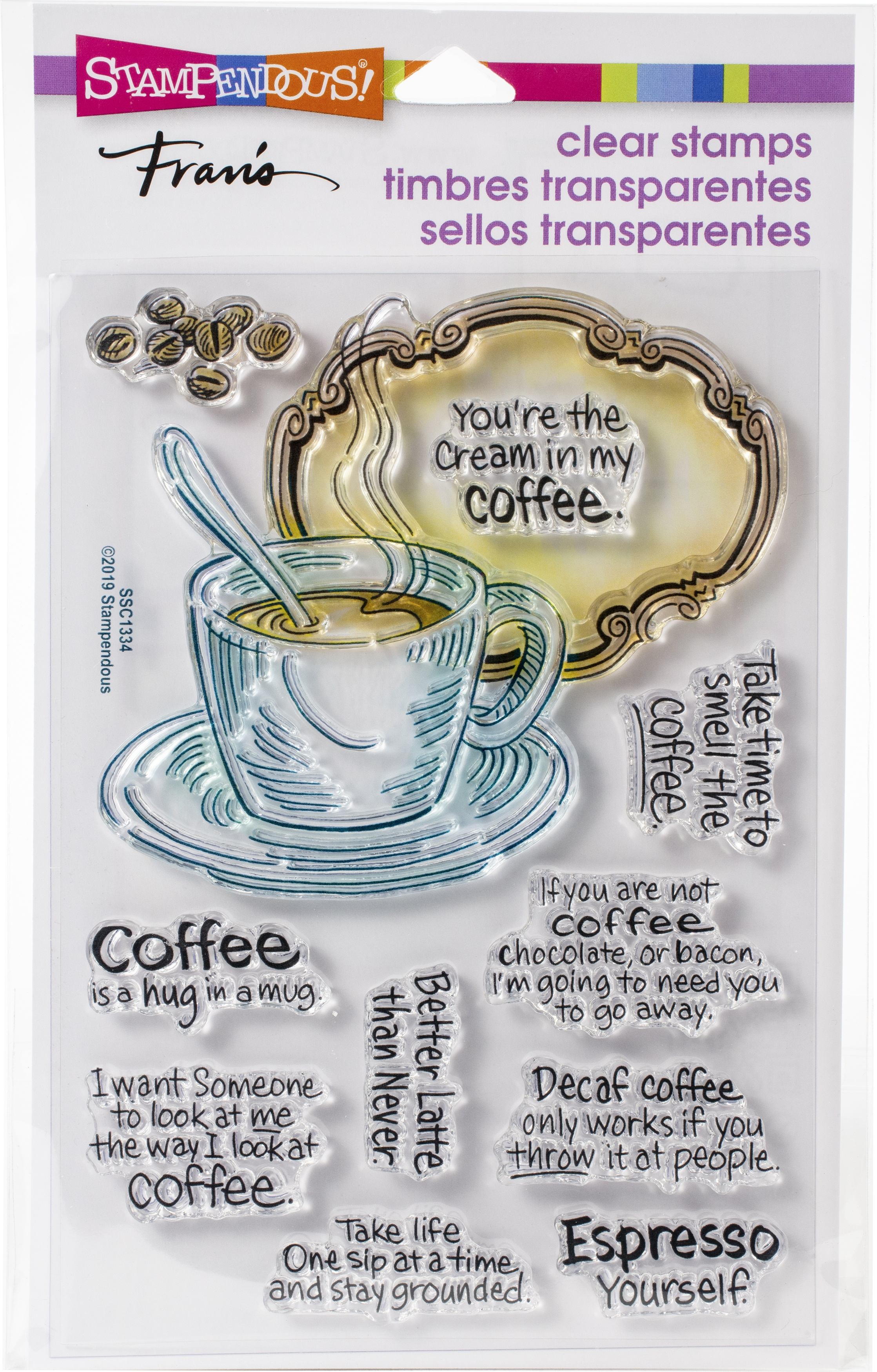 Stampendous - Coffee Frame Clear Stamp