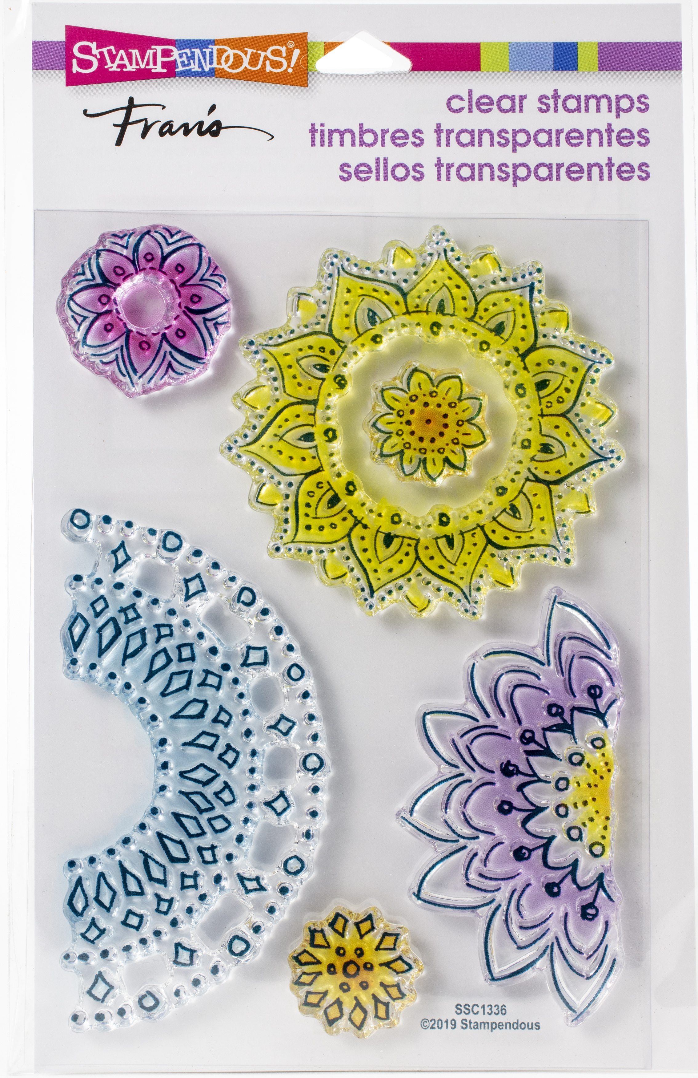 Stampendous Perfectly Clear Stamps-Floral Circles
