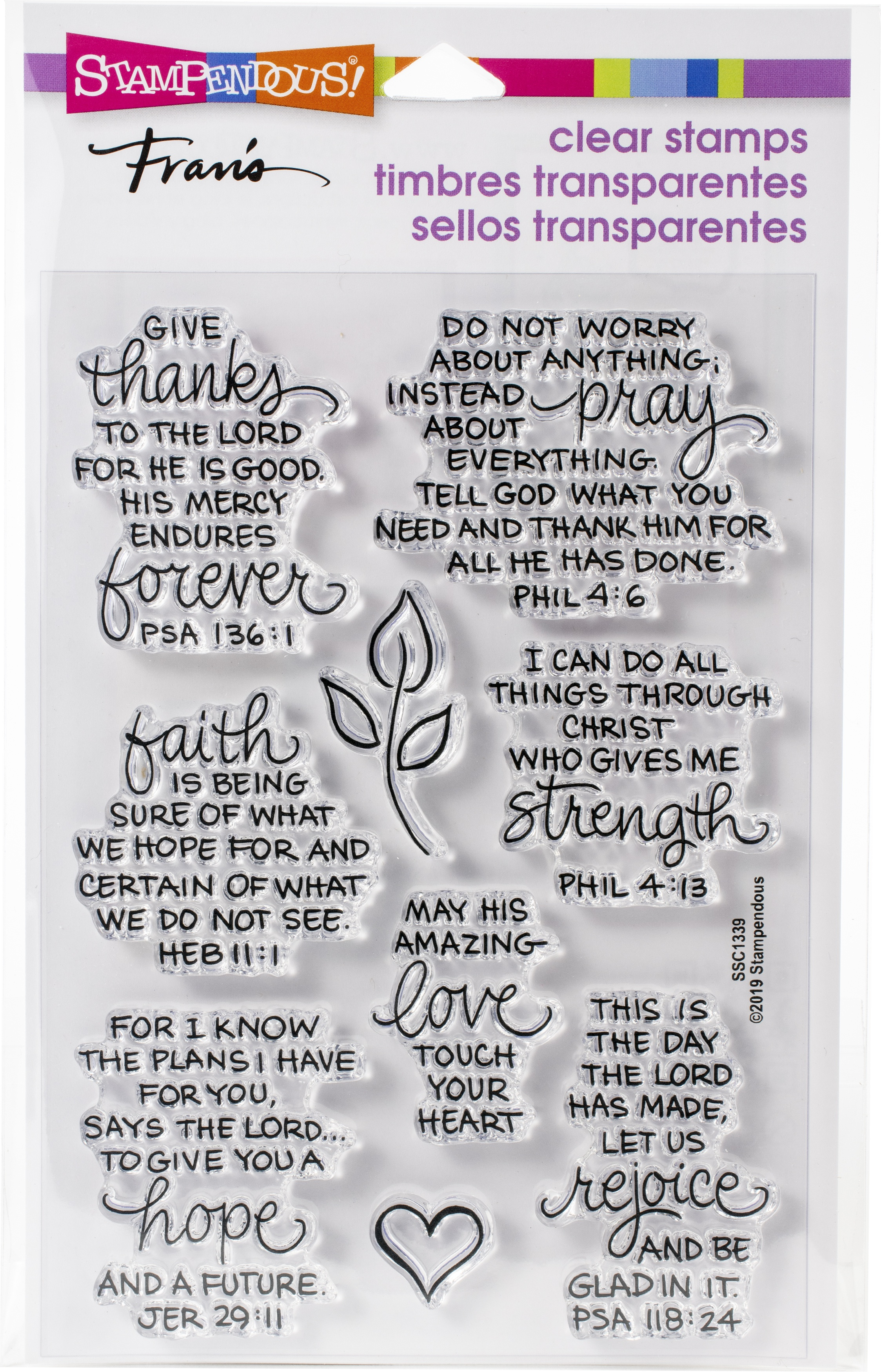 Stampendous Perfectly Clear Stamps-Bible Verses