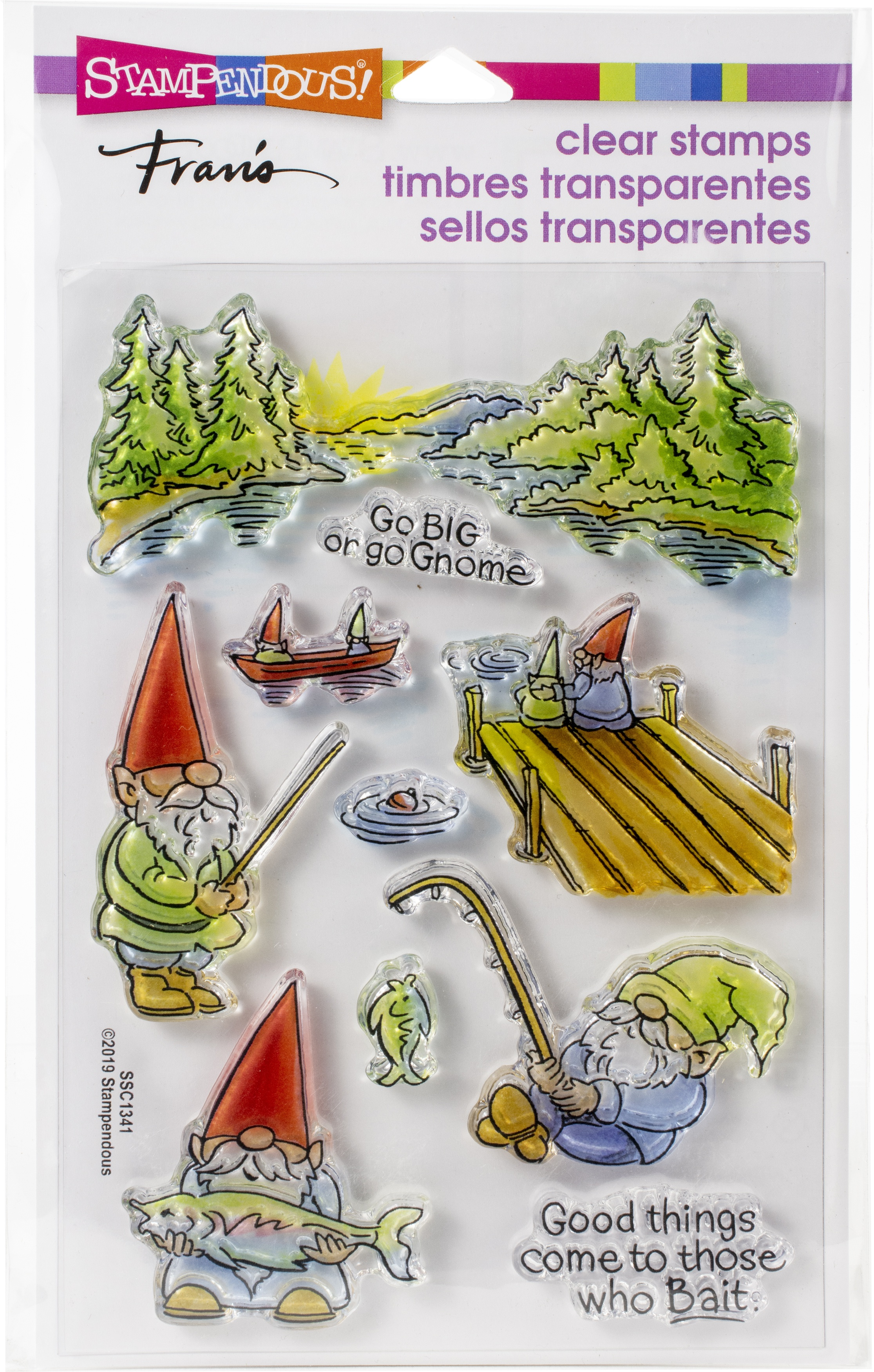 Stampendous Perfectly Clear Stamps-Gnome Fishing