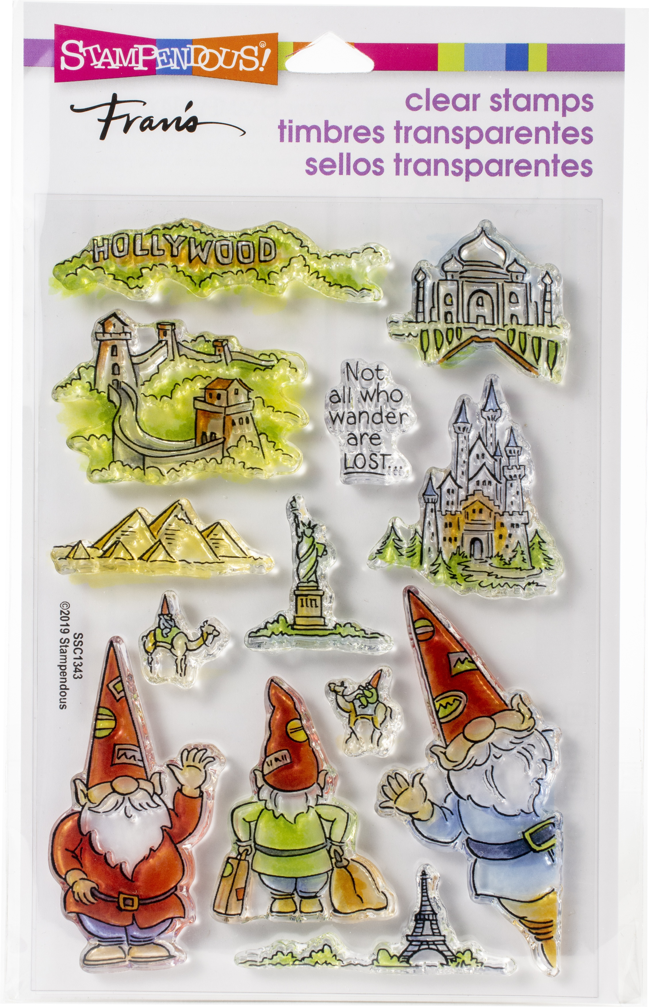 Stampendous Perfectly Clear Stamps-Gnome Travels