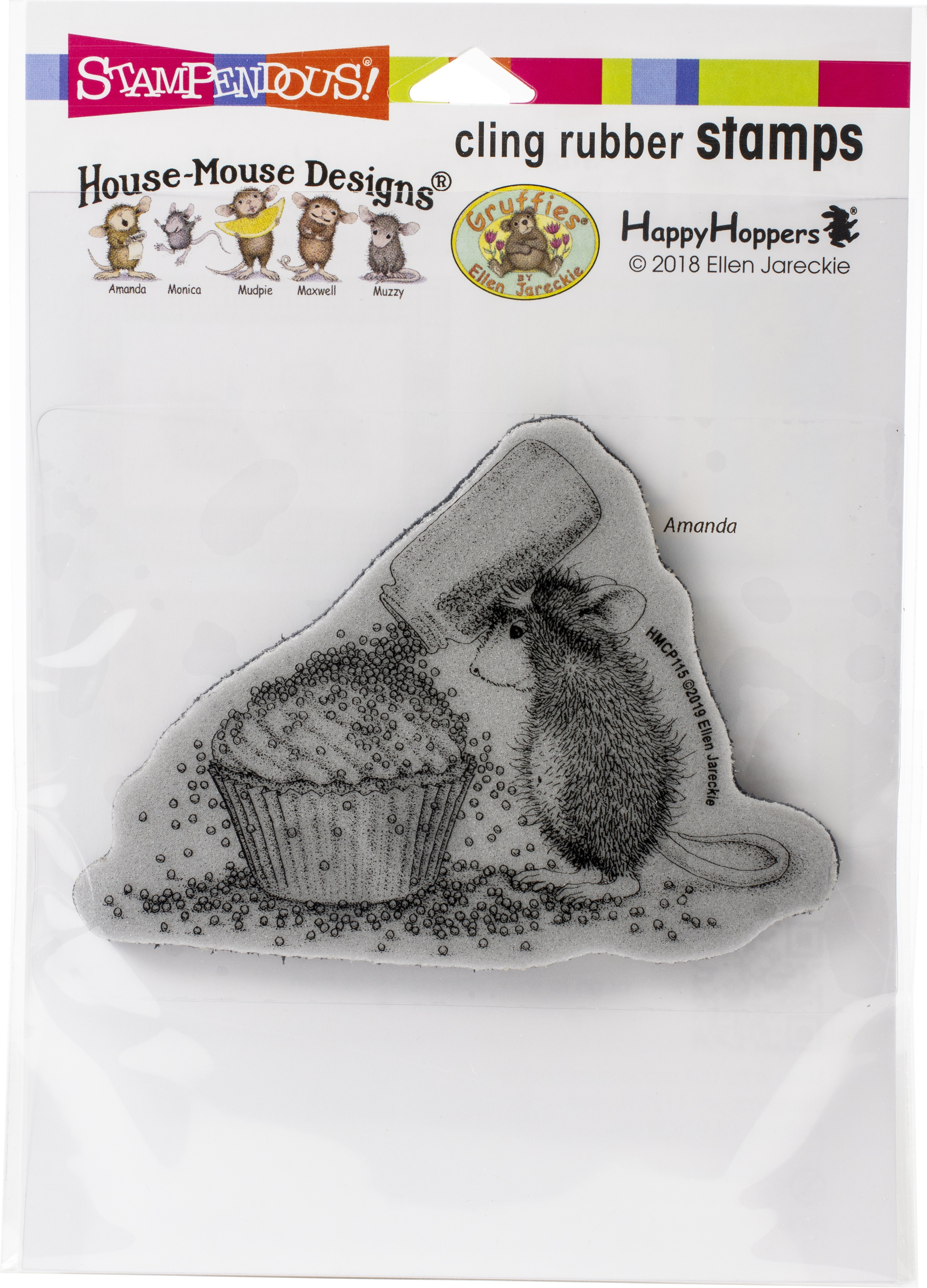 Stampendous House Mouse Cling Stamp-Cupcake Sprinkles