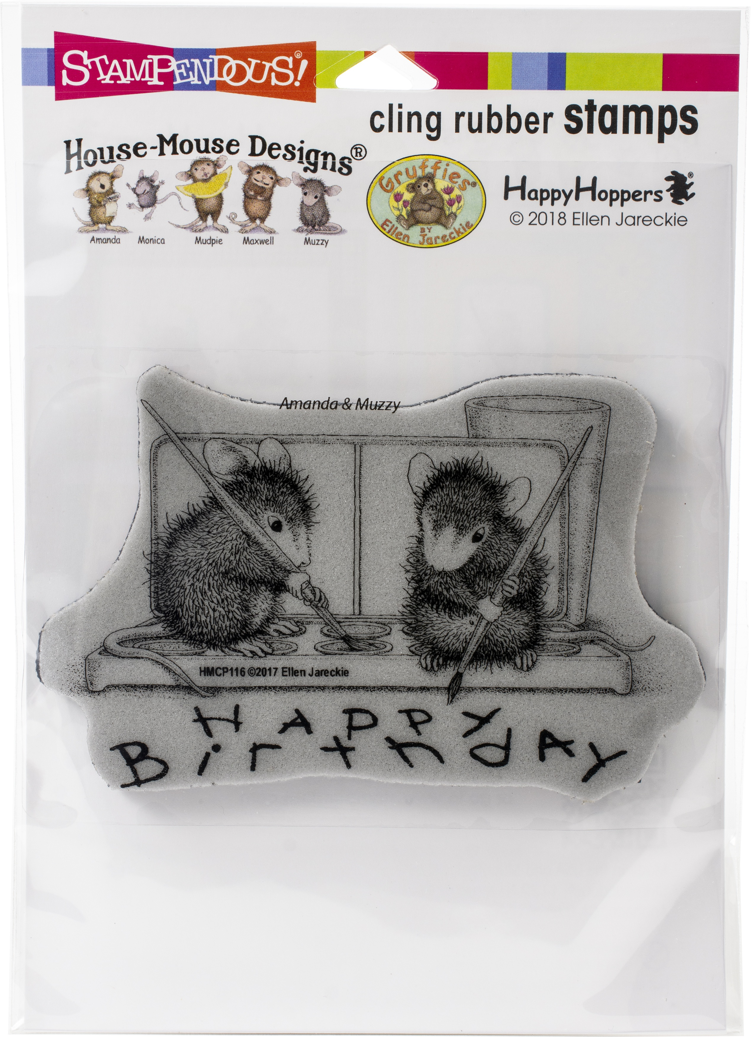 Stampendous House Mouse Cling Stamp-Watercolor Wish