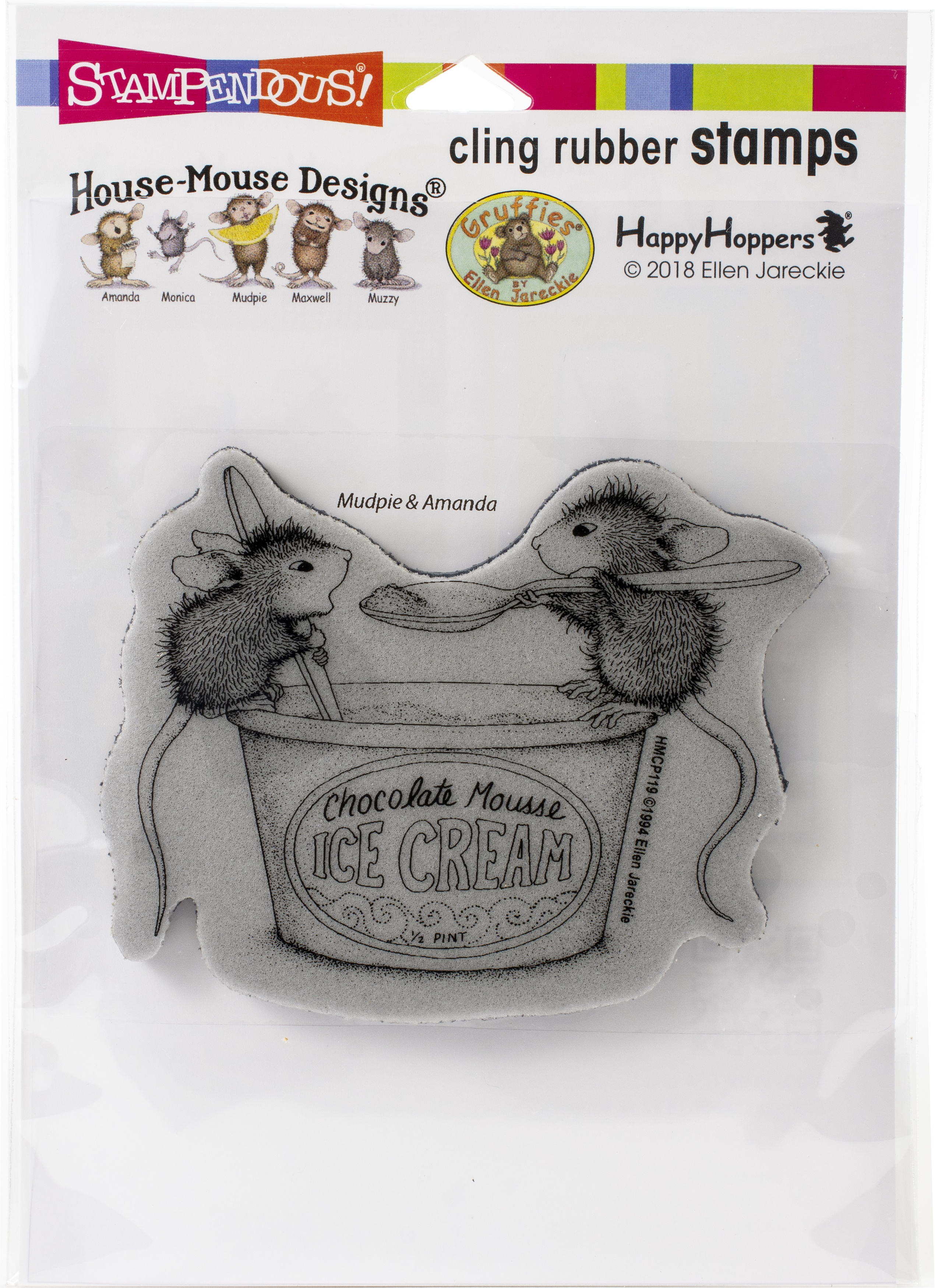 Stampendous House Mouse Cling Stamp-Mousse Mice