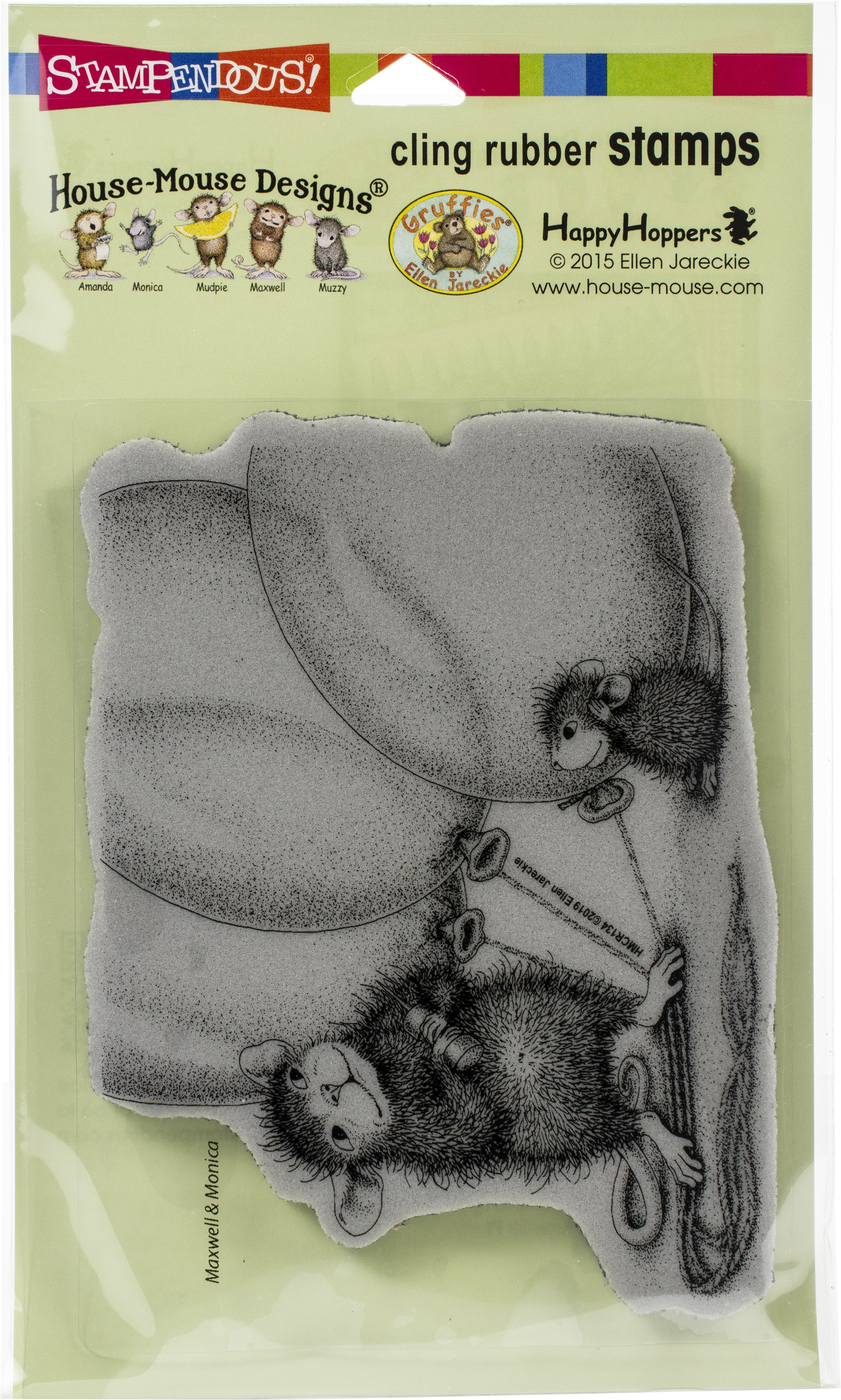 Stampendous House Mouse Cling Stamp -Balloon Buddies