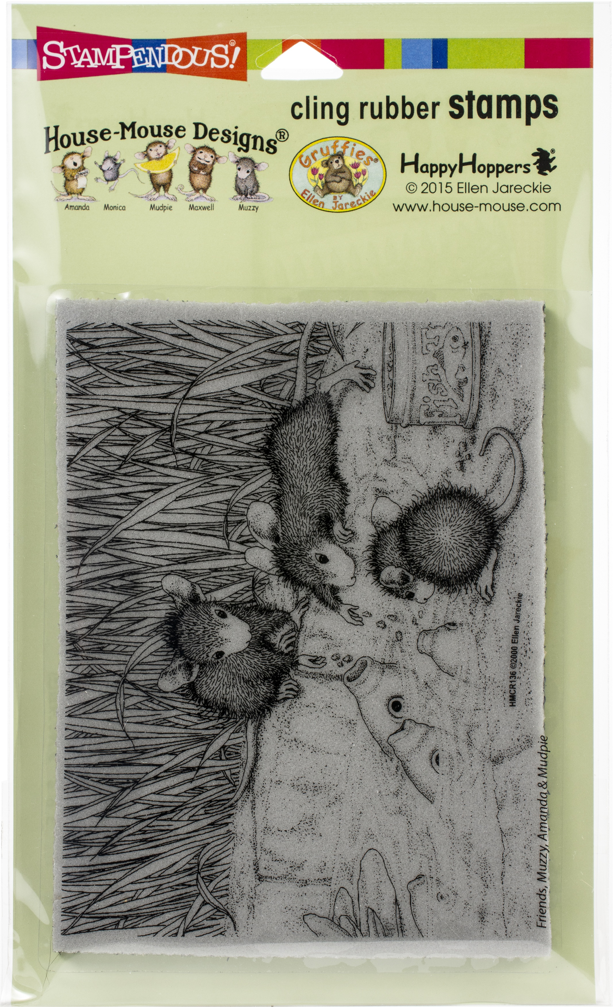 ^Stampendous House Mouse Cling Stamp - Feeding Koi