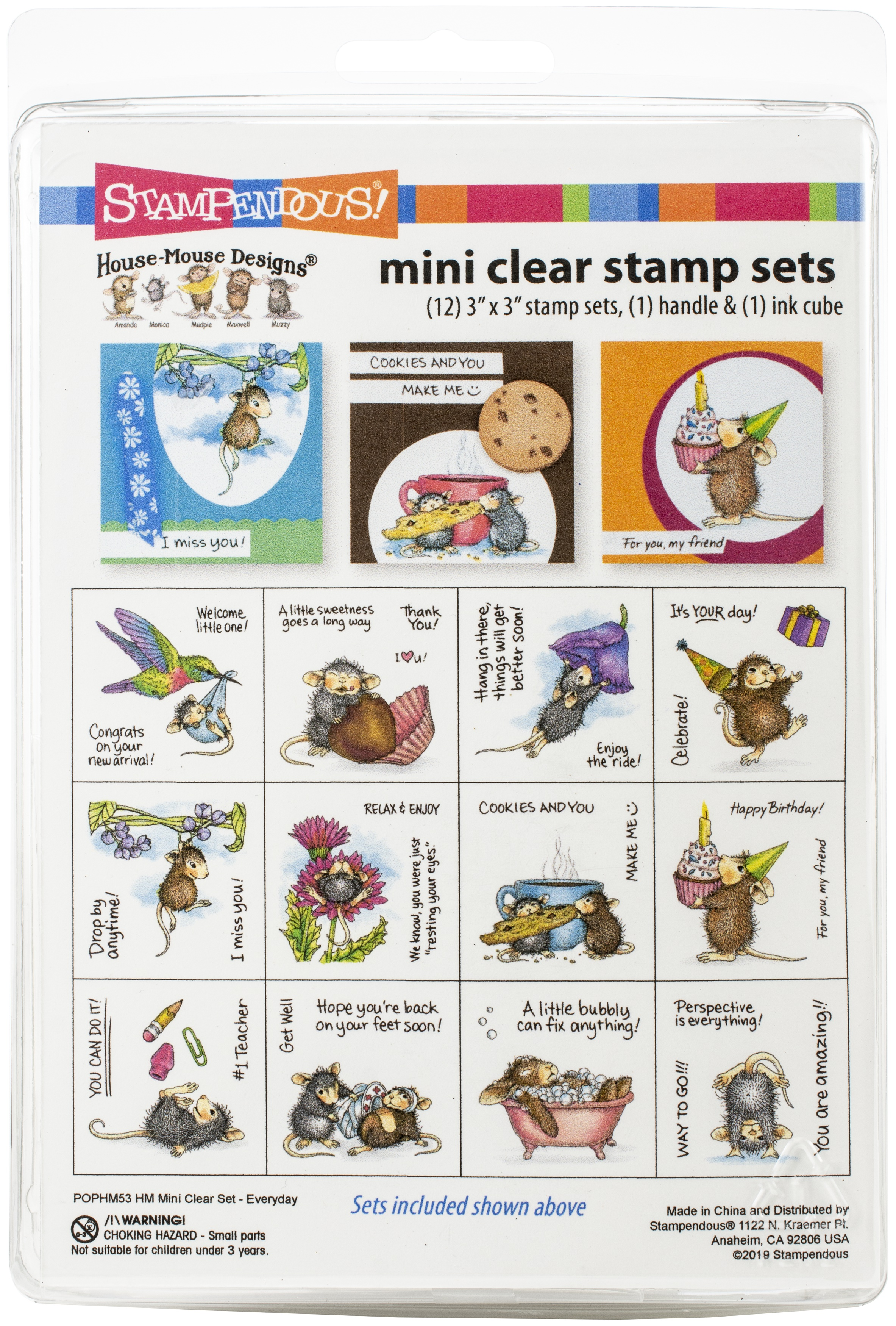 Stampendous House Mouse Mini Clear Stamp Set-Everyday