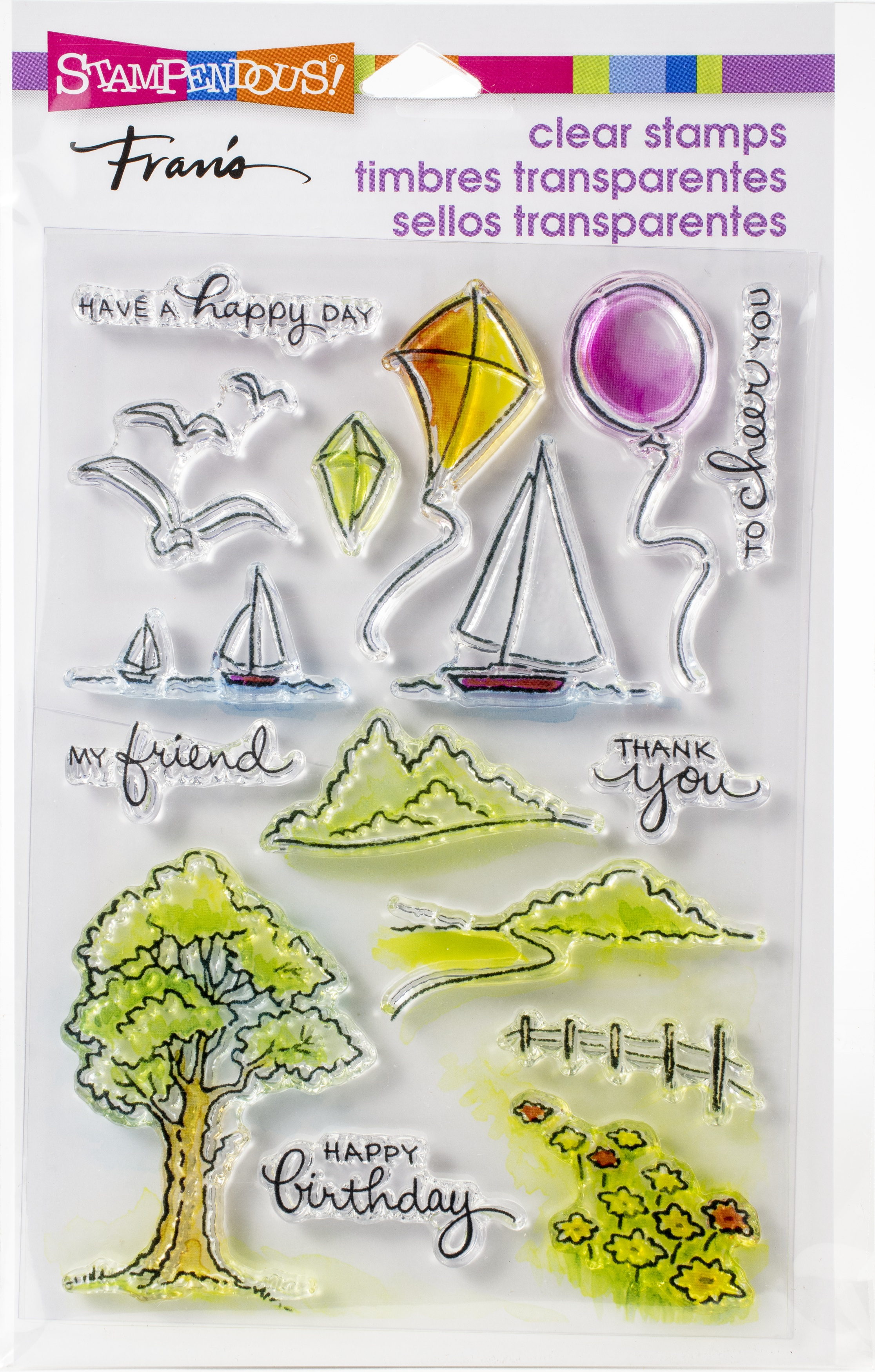 Stampendous Perfectly Clear Stamps-Scenic Sampler