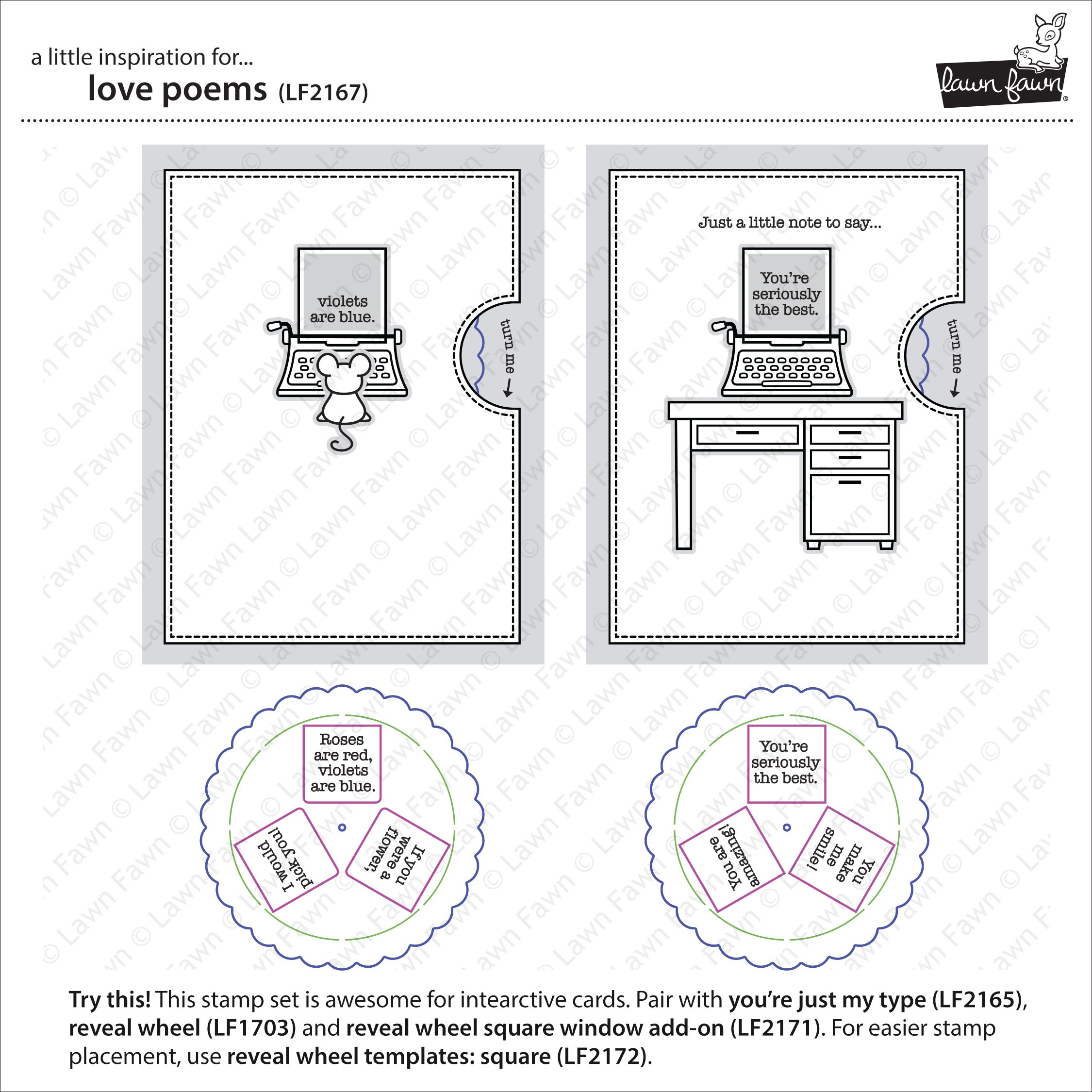 Lawn Fawn Clear Stamps 4X6-Love Poems