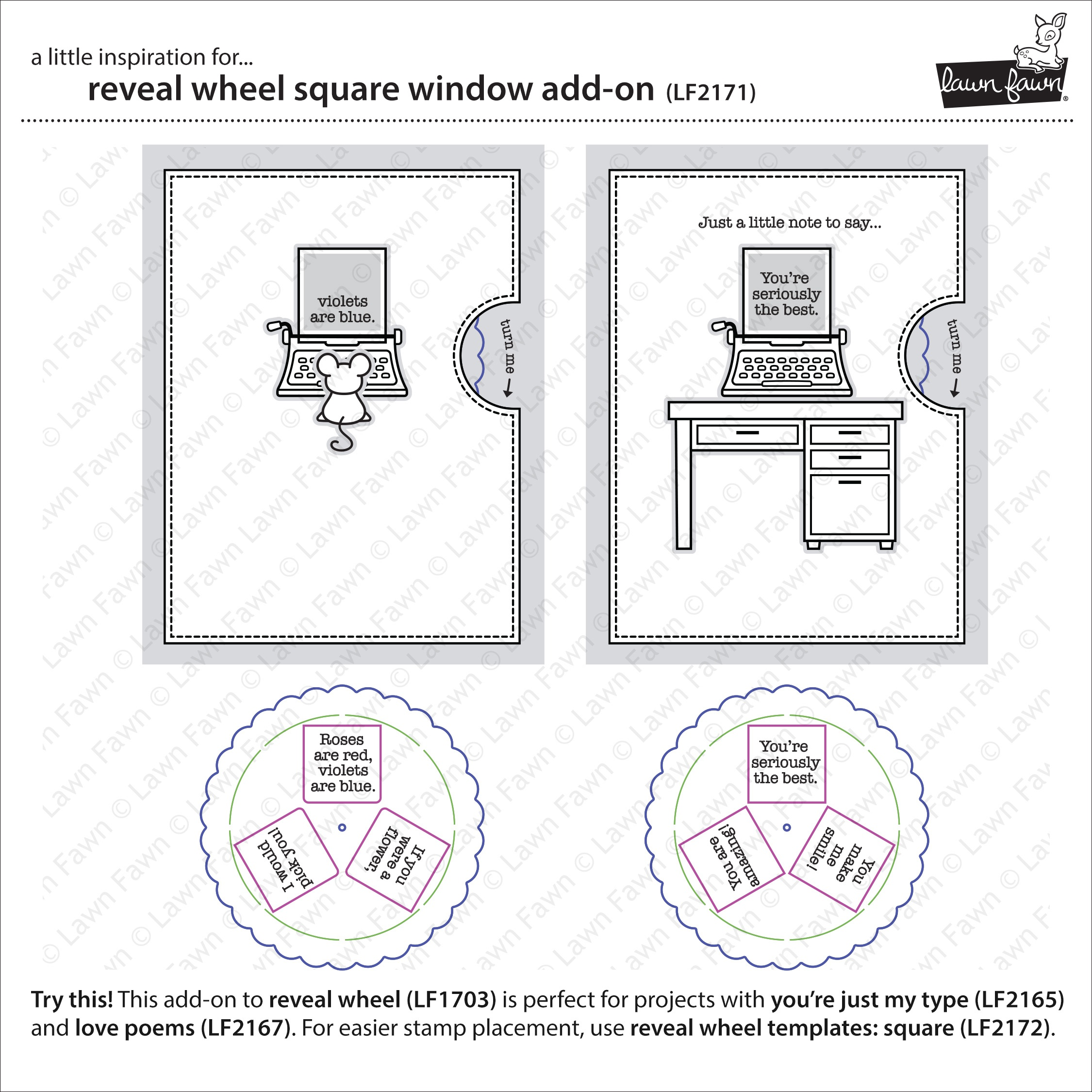 Lawn Cuts Custom Craft Die -Reveal Wheel Square Window Add-On