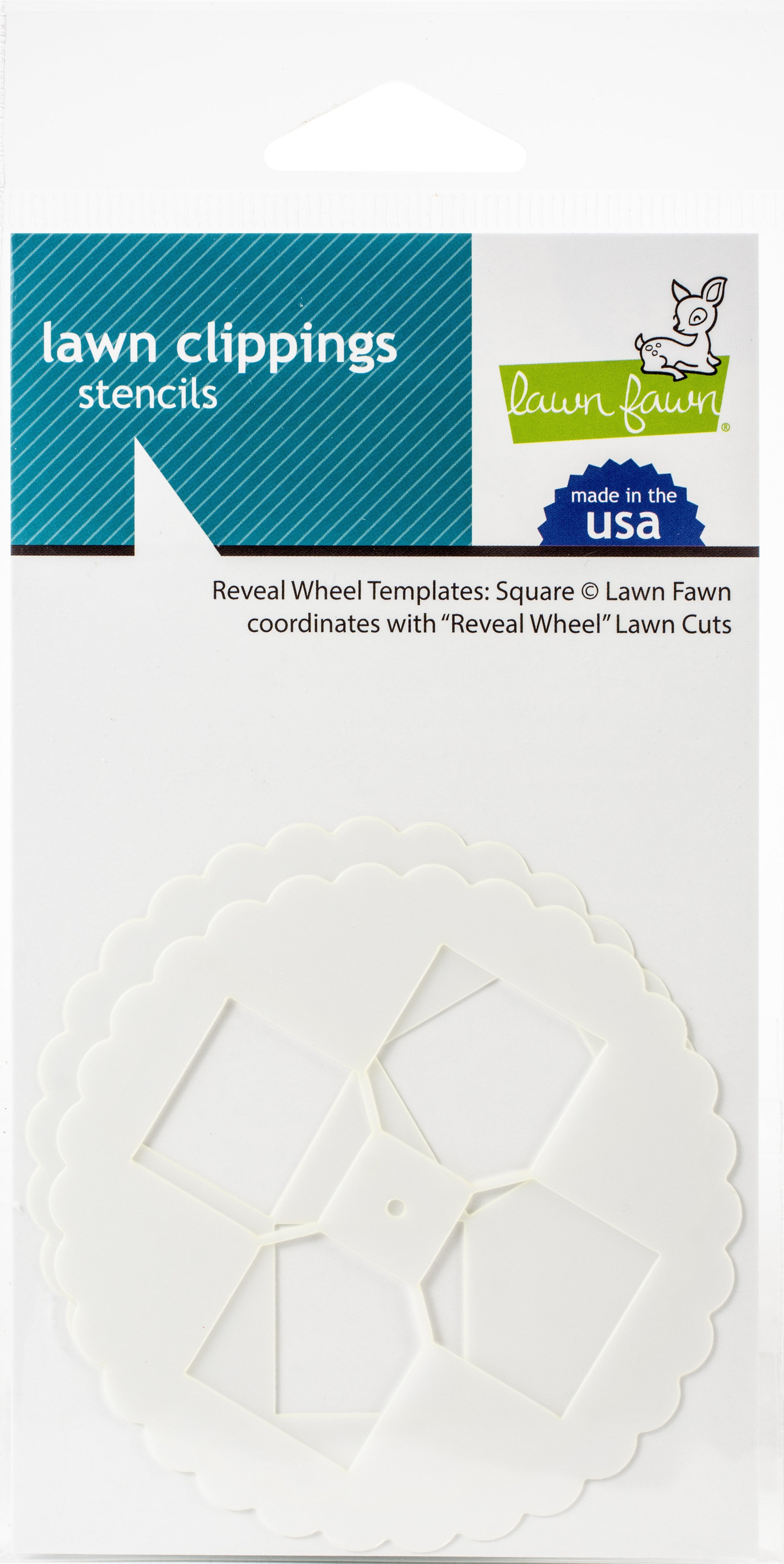 Lawn Clippings Stencils-Reveal Wheel: Square