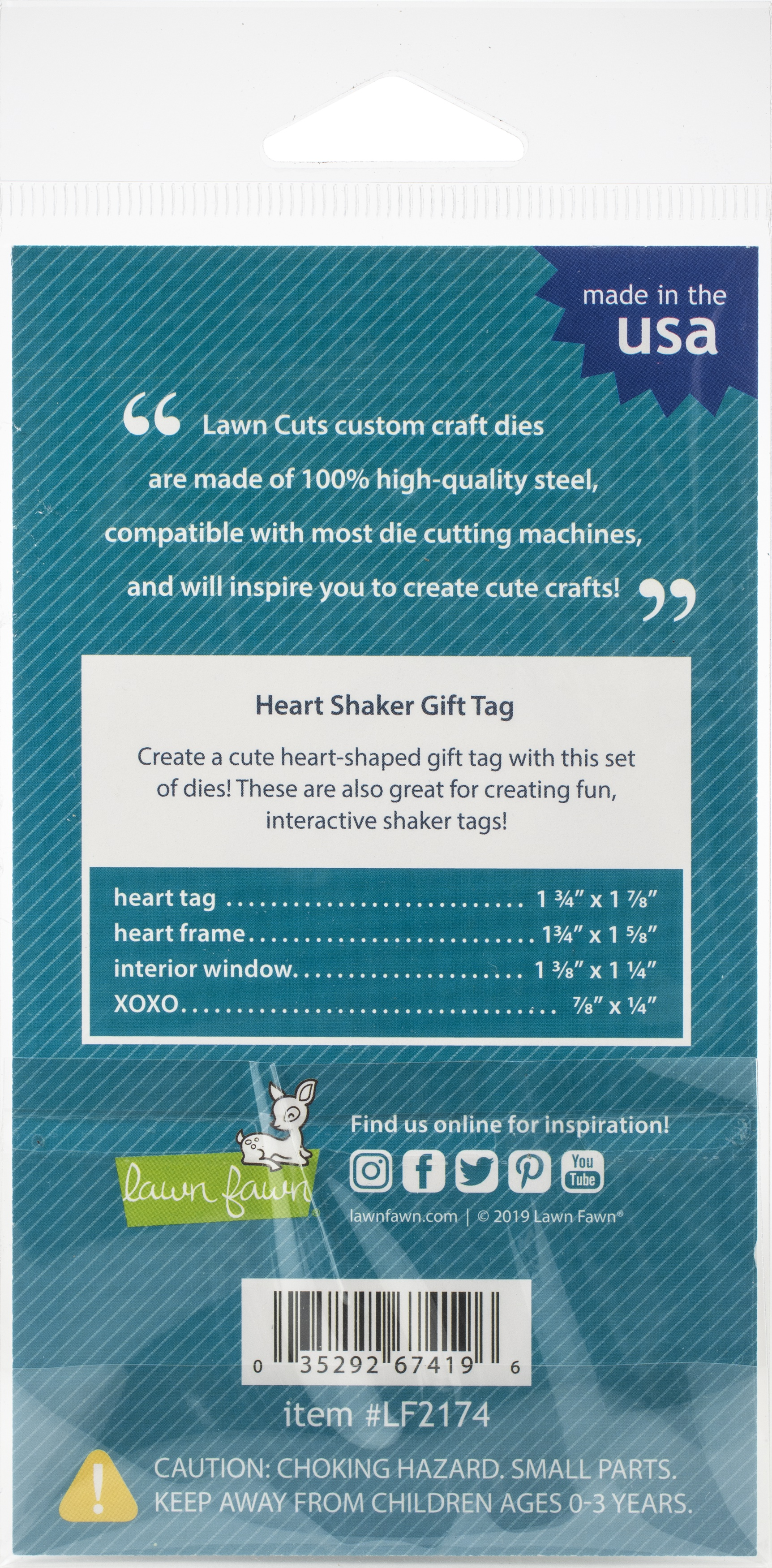 Heart Shaker Gift Tag Dies