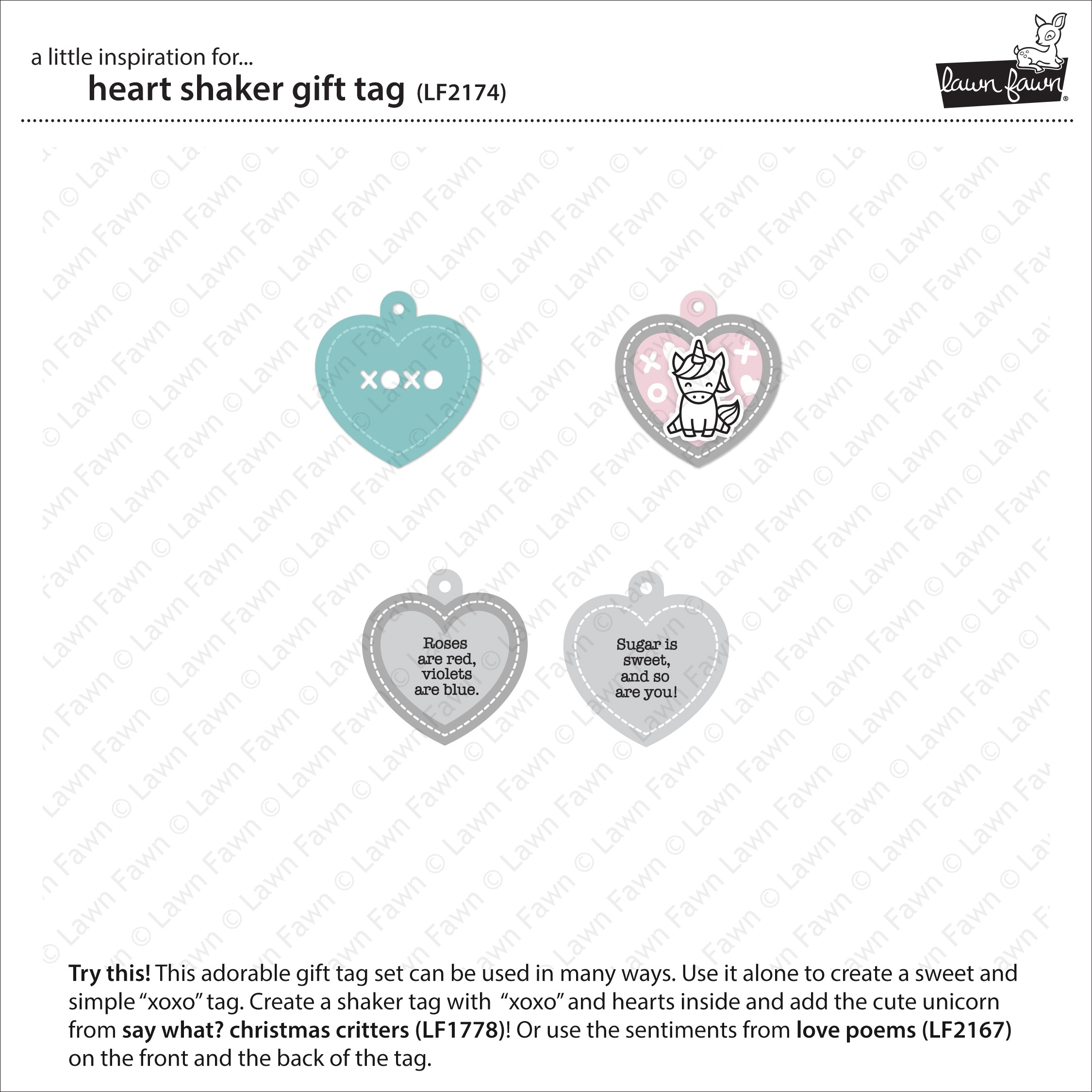 Lawn Cuts Custom Craft Die -Heart Shaker Gift Tag