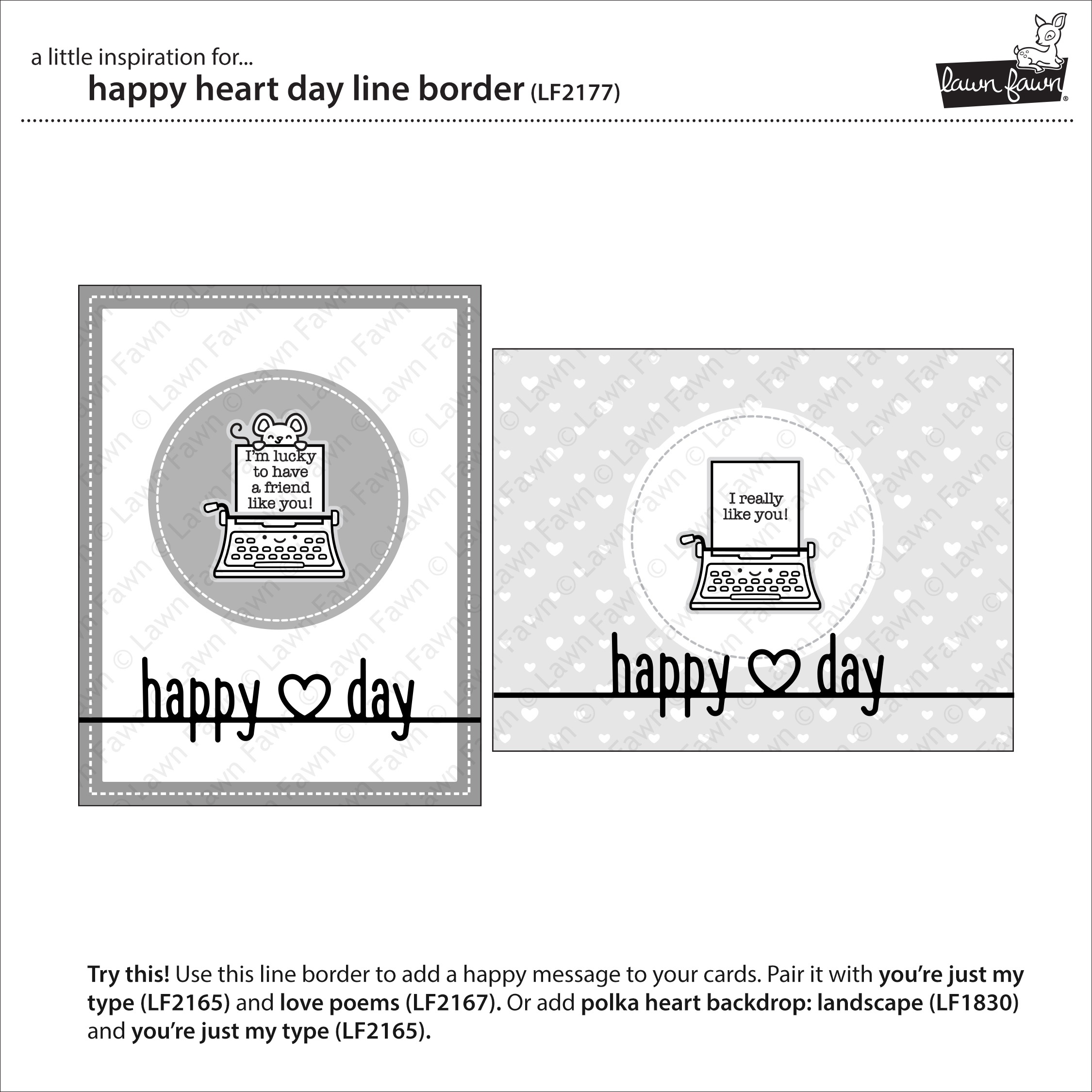 Lawn Cuts Custom Craft Die -Happy Heart Day Border